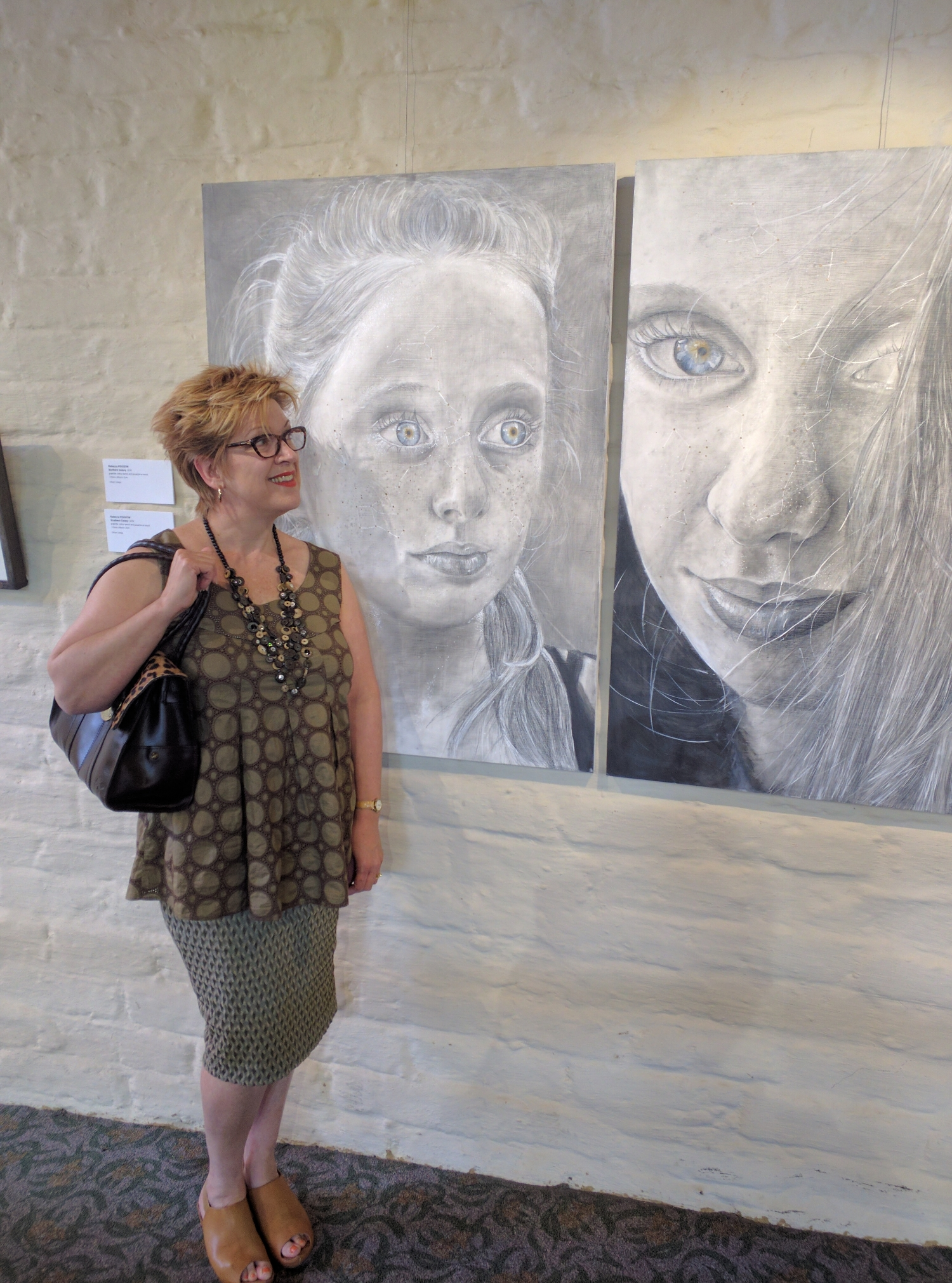 Rebecca Pidgeon is studying drawing at the Victorian College of the Arts. Her artwork is part of the current Eltham Library Community Gallery exhibition 'Creative Minds'.
