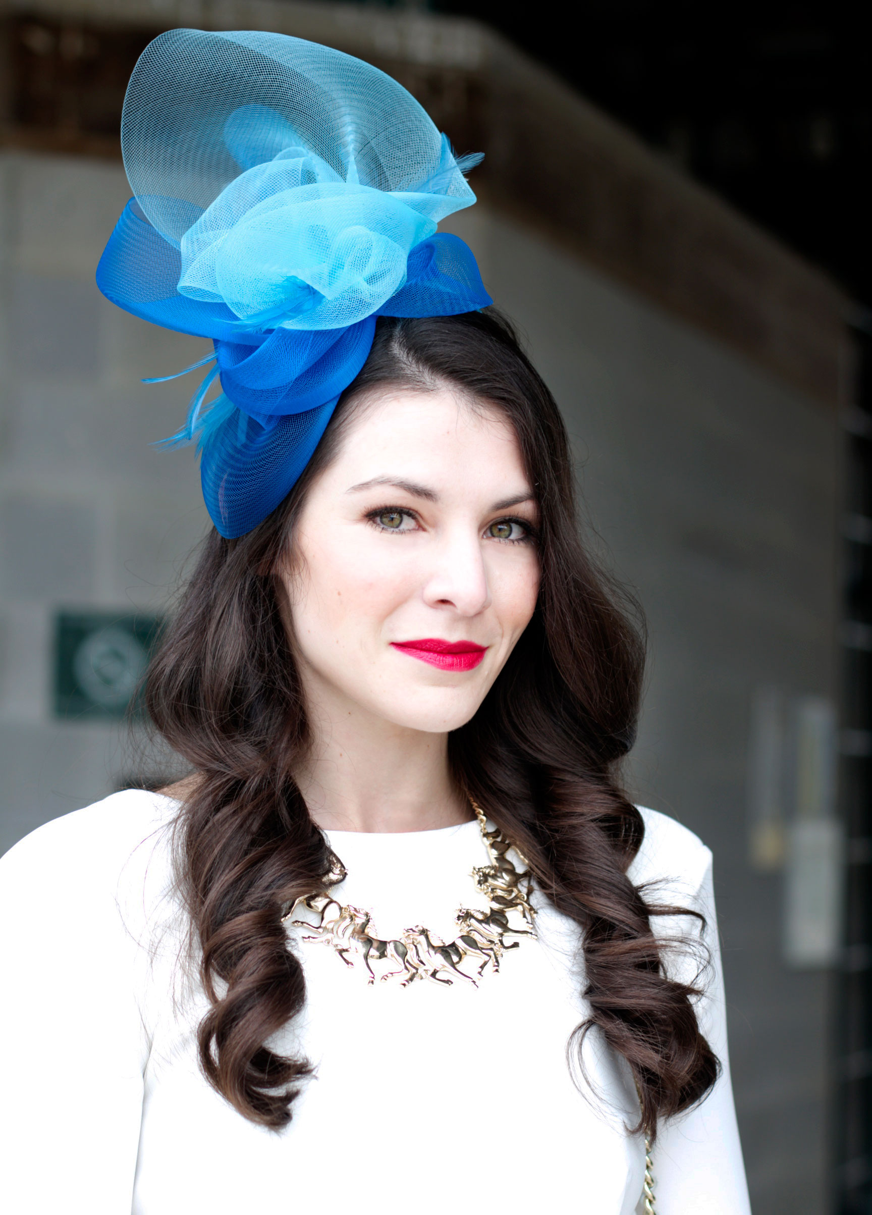 Kentucky Derby Fashion, The Hat Girls, Fascinators, Kentucky Derby Hats, AQ AQ, C/MEO The Label, J.Crew Statement Necklace, Rebecca Minkoff Handbags, Keeneland Fashion, Kentucky Fashion Blogger