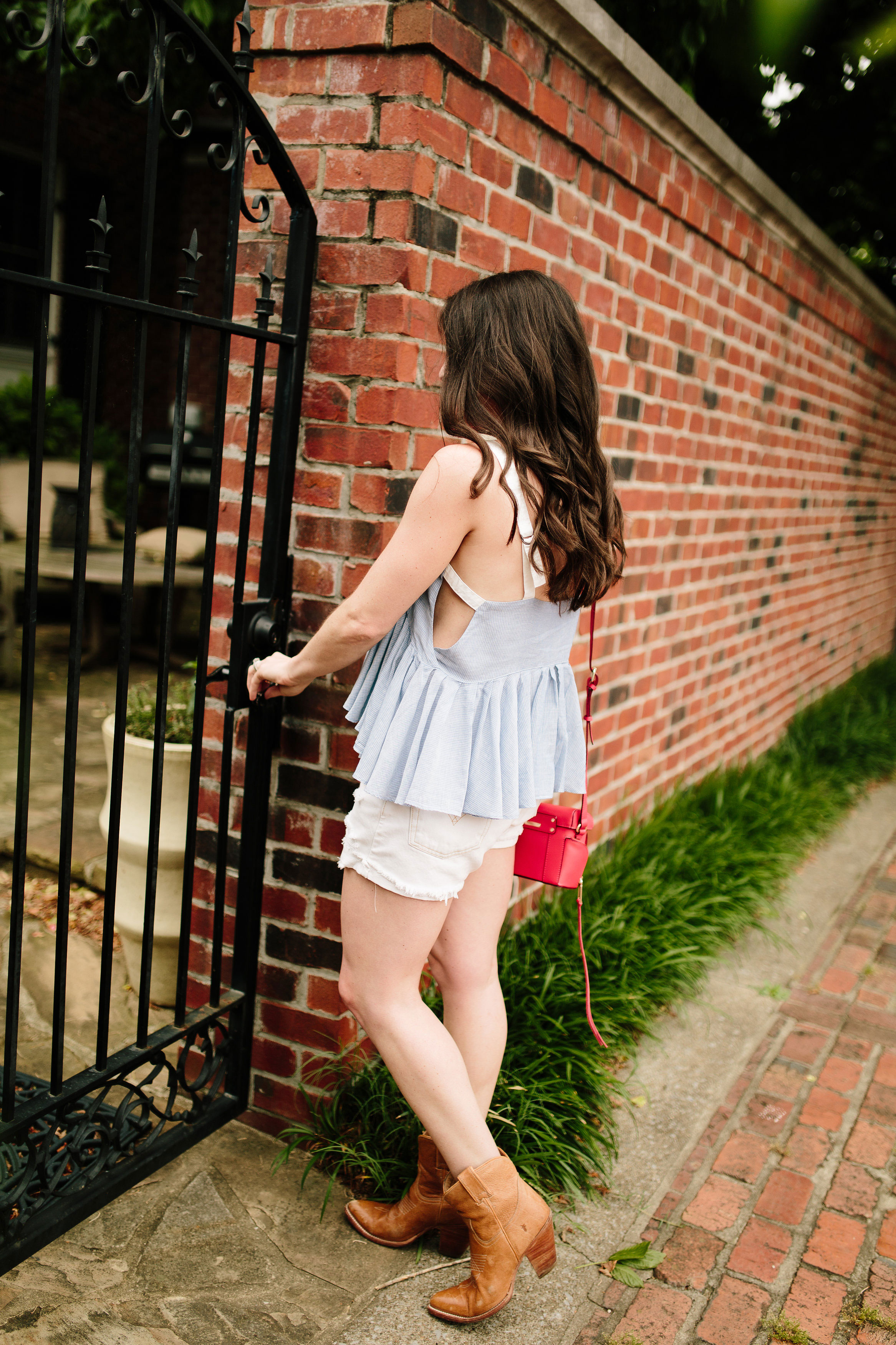 Fashion Blogger, Nashville Style, Electra Bicycle, Free People, Levis Shorts, Rebecca Minkoff, Summer Style