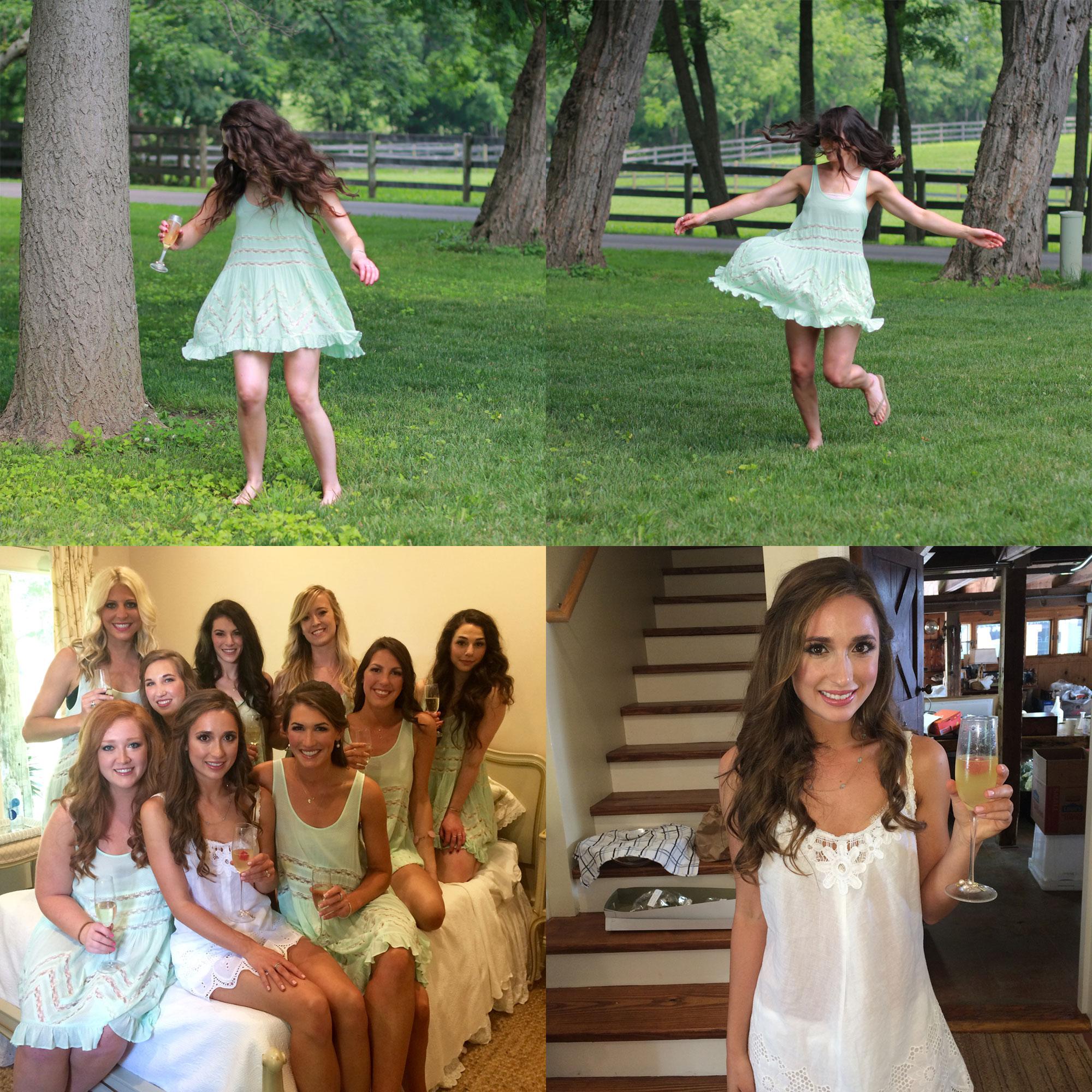 Free People Slip Dress, Bridesmaids Getting Ready Outfits, Bride Getting Ready Outfit