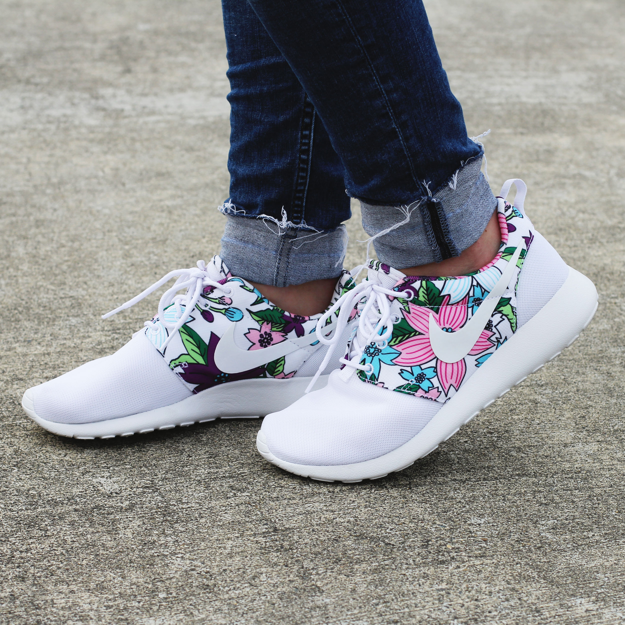 Nike Roshe Run Floral Print, Floral Nikes, Flower Running Shoes