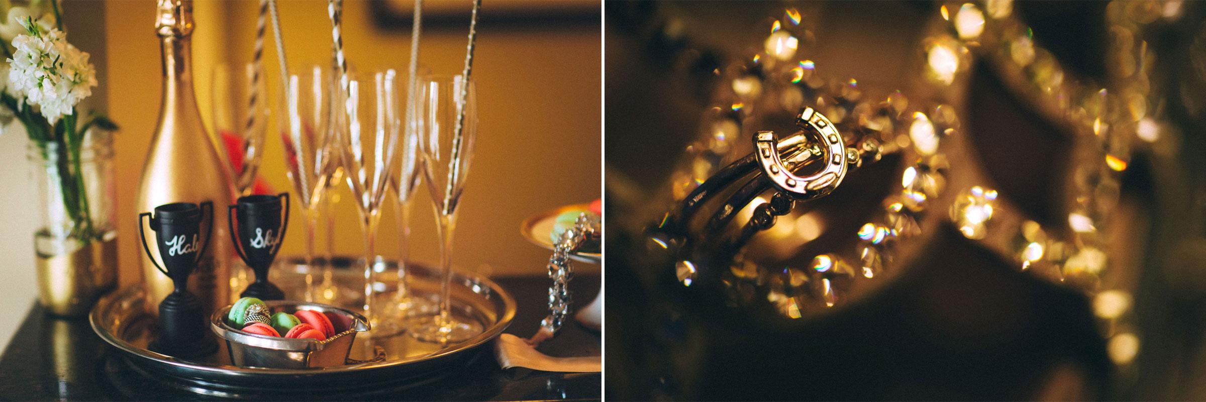 Gold Horseshoe Ring for Something New, Sergio Rossi Mermaid Swarovski Crystal Booties, Black Tie Wedding, Nashville Wedding, Southern Wedding, Glam Wedding