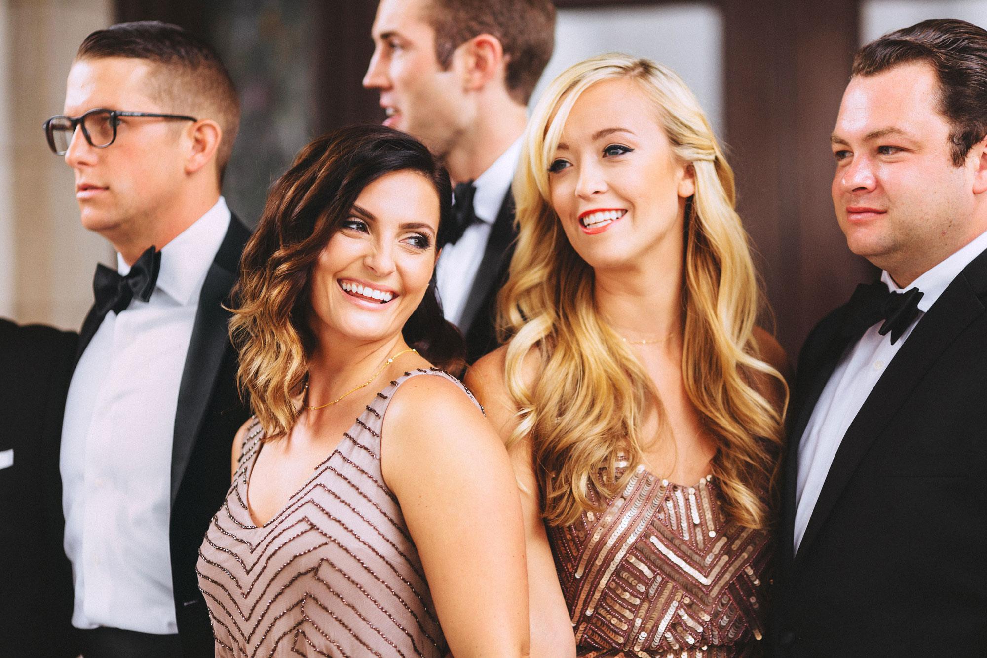 Me & Mr. Jones Wedding, Adrianna Papell Beaded Blouson Gown, Beaded Bridesmaids Dresses, Black Tie Wedding, Nashville Wedding
