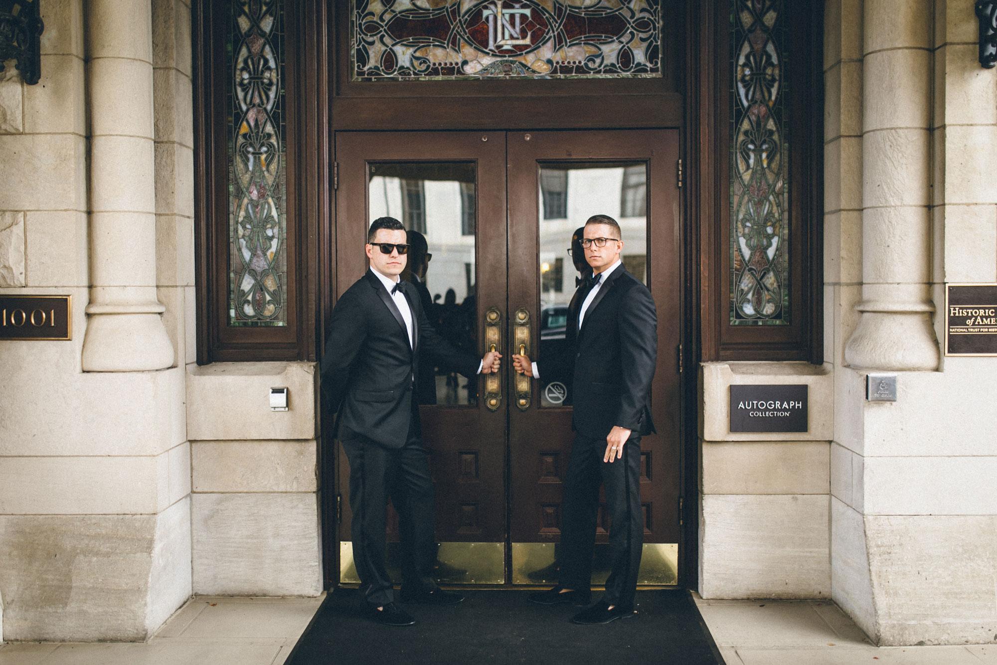 Me & Mr. Jones Wedding, First Look at Union Station Hotel, Nashville Wedding