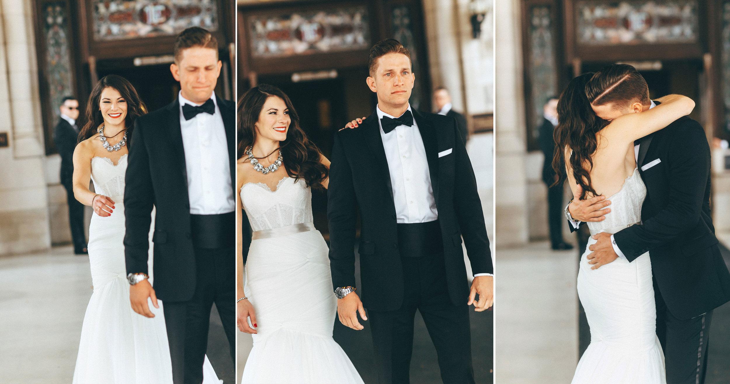 Me & Mr. Jones Wedding, First Look at Union Station Hotel, Nashville Wedding, Black Tie Wedding, Southern Wedding