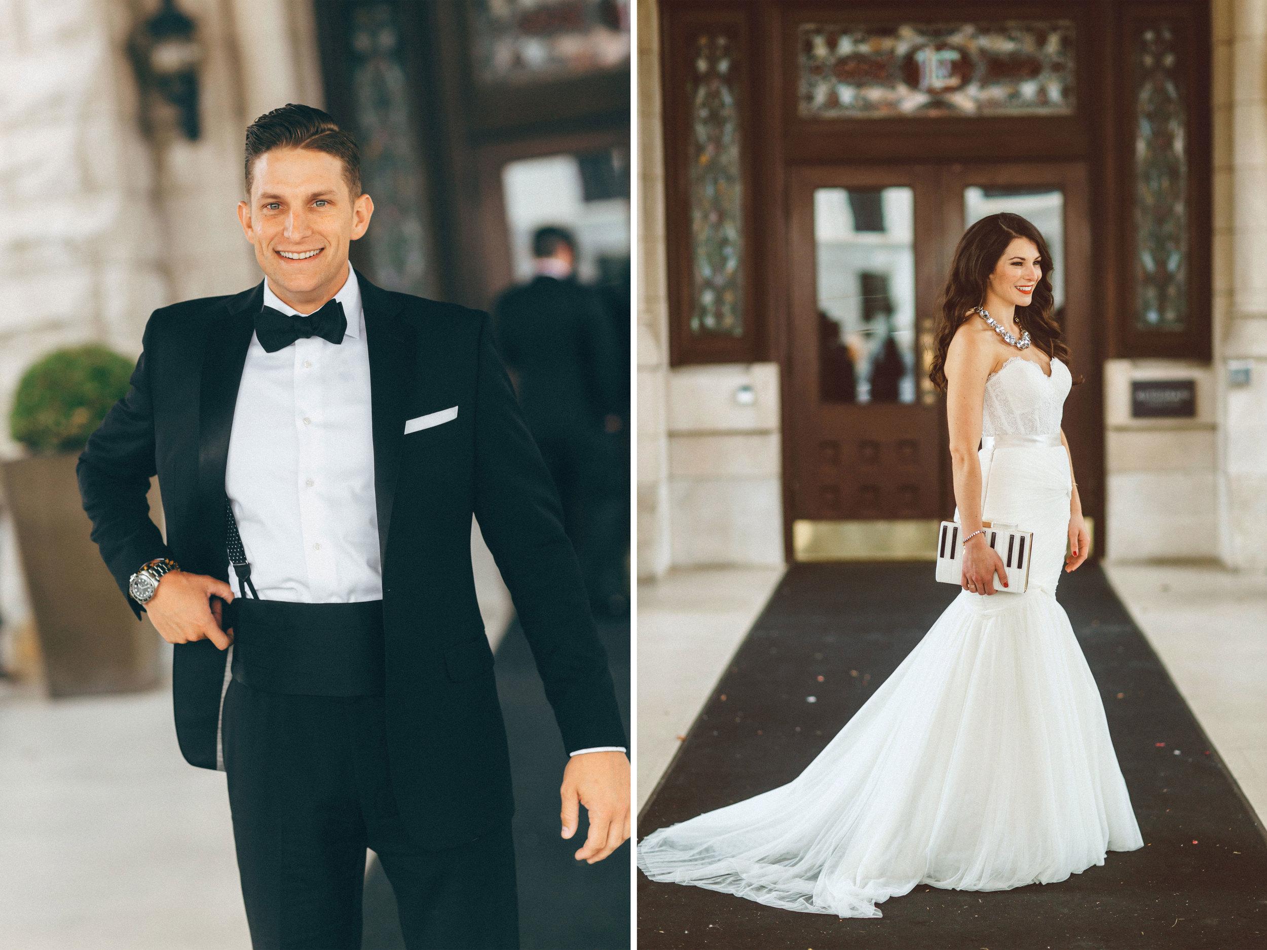 Me & Mr. Jones Wedding, Bride and Groom Portraits at Union Station Hotel, Nashville Wedding, Black Tie Wedding