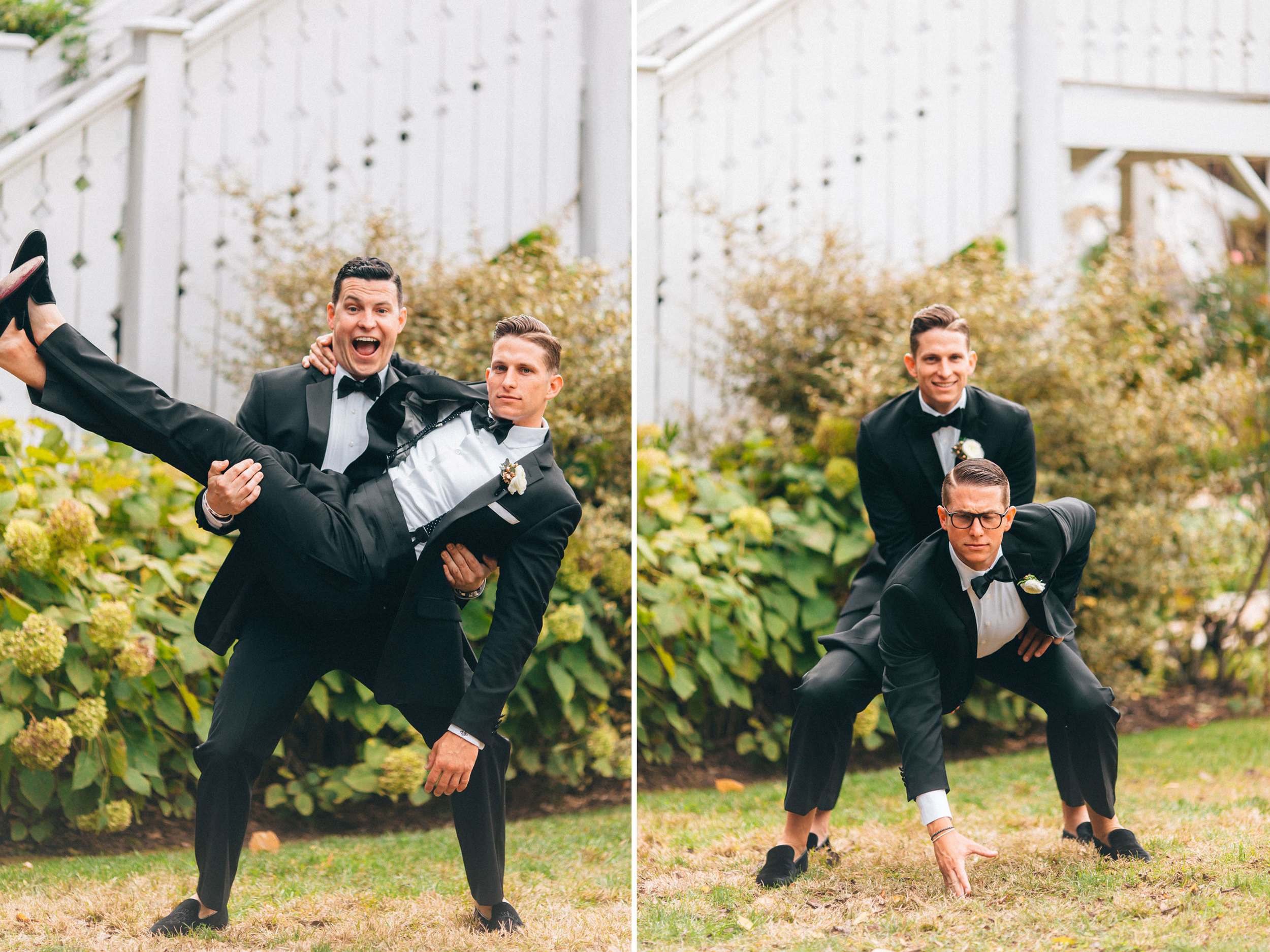 Me & Mr. Jones Wedding, Funny Groomsmen Pictures, Black Tie Wedding, Calvin Klein Slim Fit Black Tuxedos