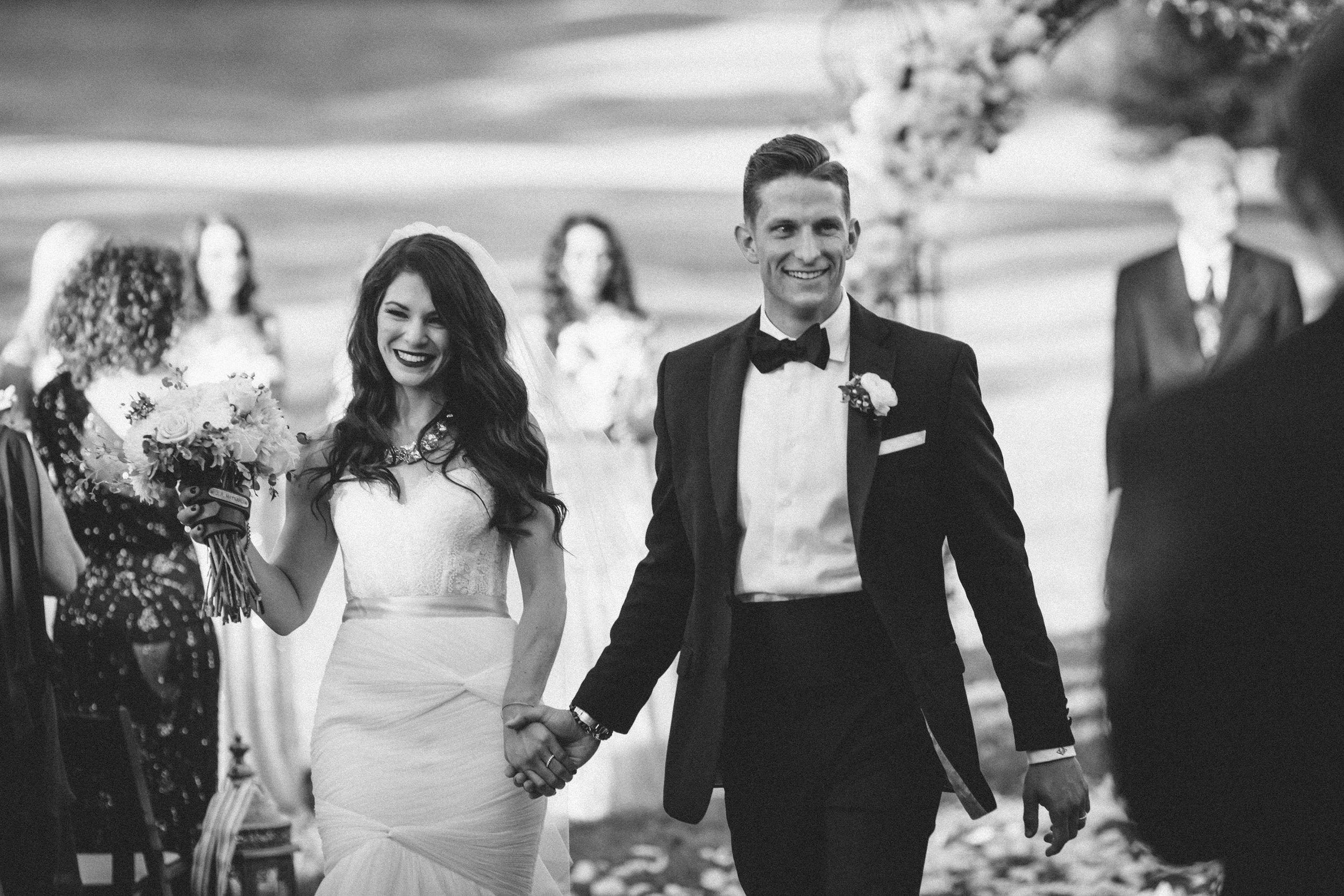 Me & Mr. Jones Wedding, Black Tie Wedding, Rustic Glam Outdoor Wedding, Rose Petal Aisle, Black and White Wedding Photos, Mr. & Mrs. Jones!