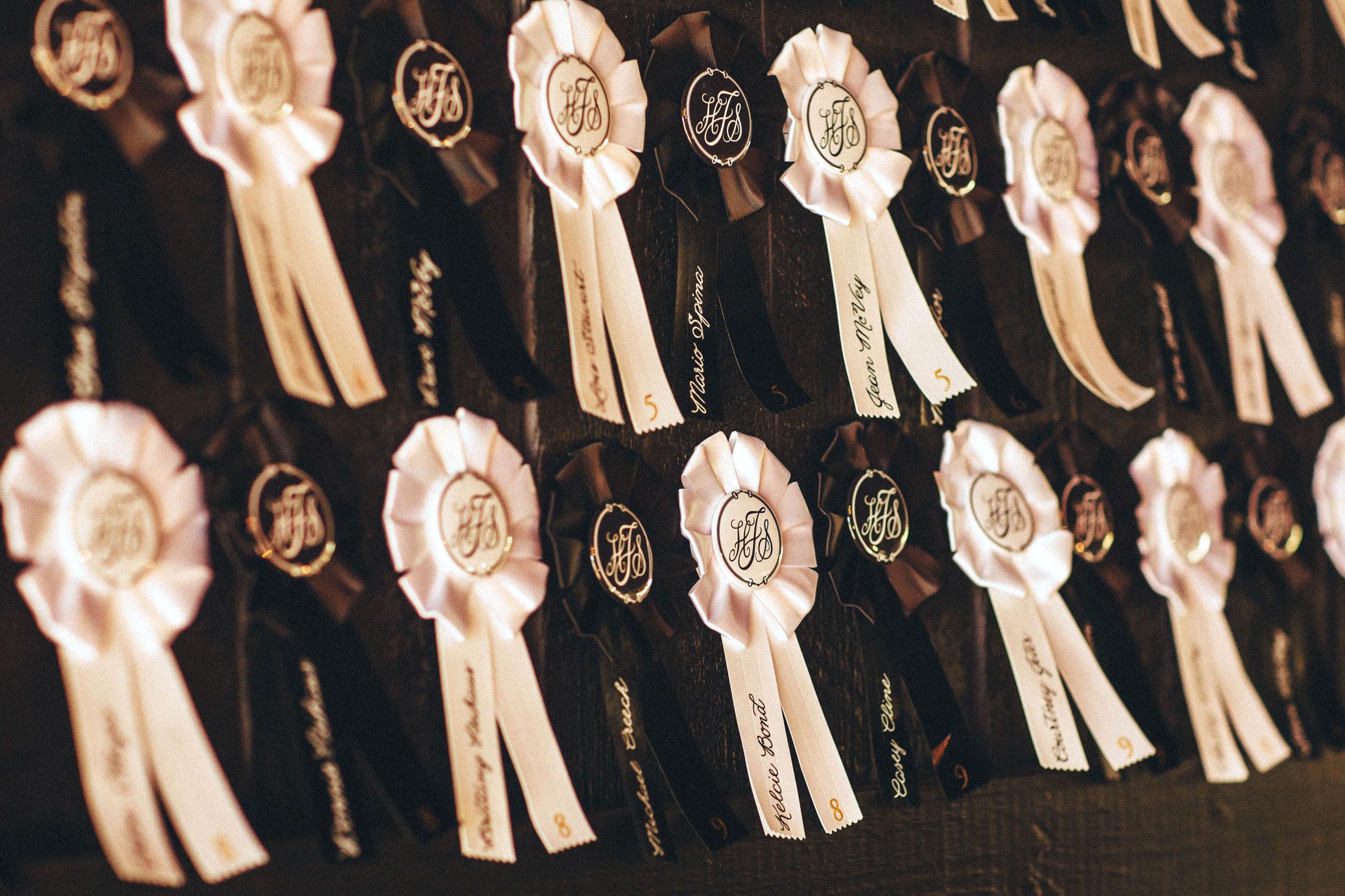 Me & Mr. Jones Wedding, DIY Rosette Escort Cards, Equestrian Themed Wedding Decor, Kentucky Derby Inspired Wedding Decor, Rustic Glam Wedding