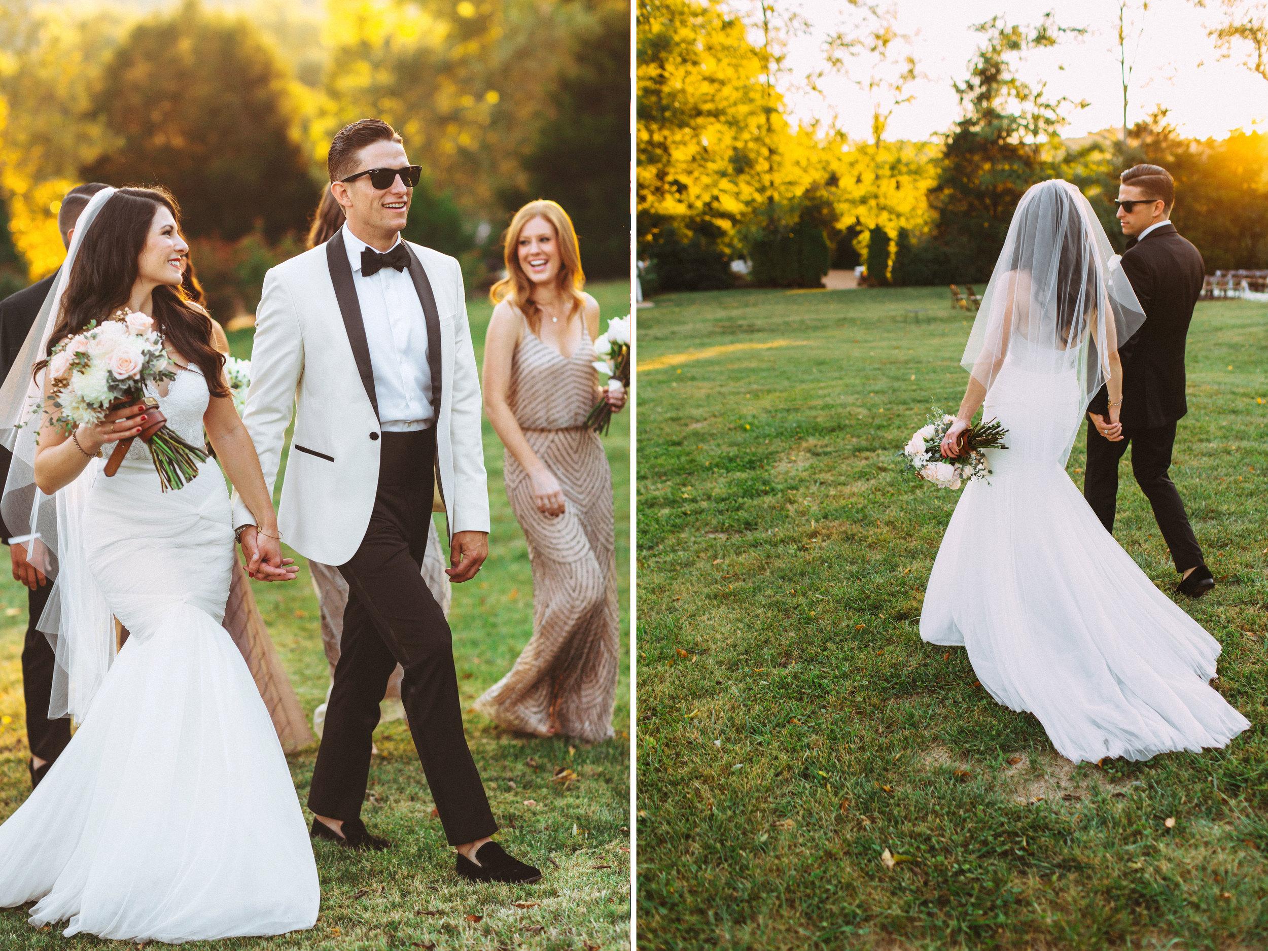 Me & Mr. Jones Wedding, Black Tie Wedding, Groom Wearing White ASOS Tuxedo, Watters Carina Corset, Watters Amina Skirt, Nashville Wedding