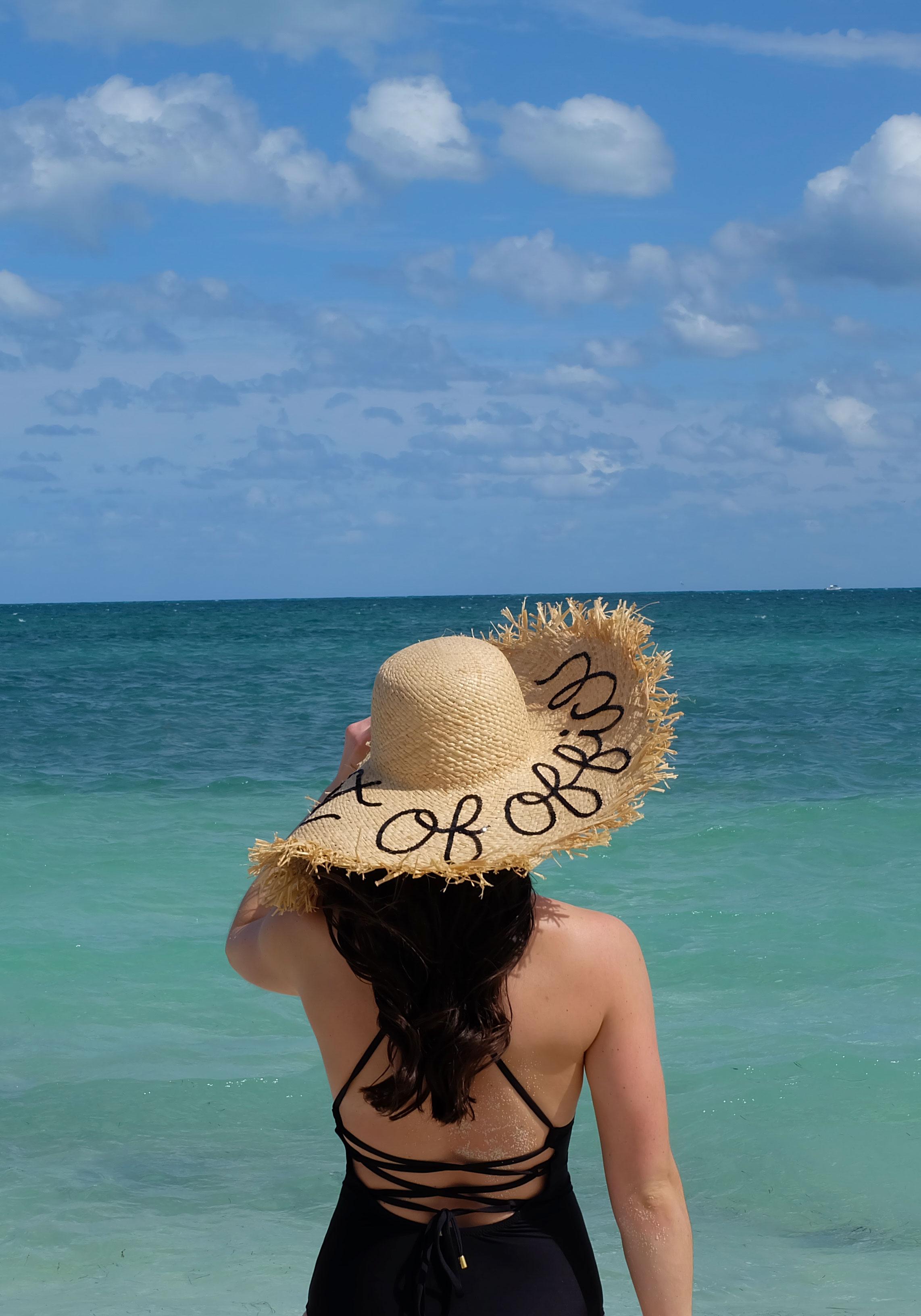 Helen Jon One Piece Lattice Back Swimsuit, Cute One Piece Bathing Suits, DIY Eugenia Kim Hat, Mexico!