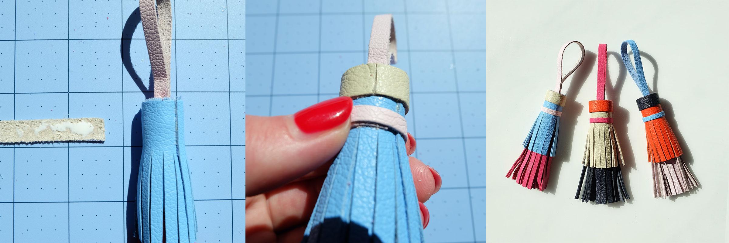 DIY Tory Burch leather tassel key fob!