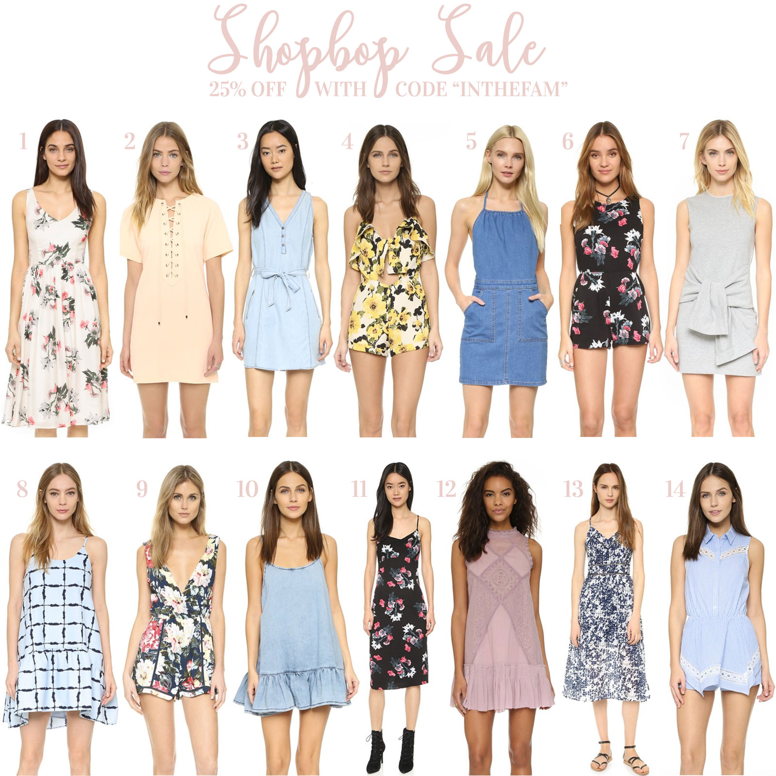 Shopbop Friends and Family Sale- The Best Dresses For Spring and Summer 2016!