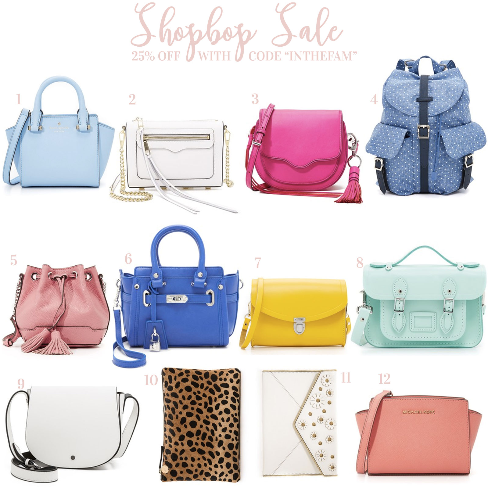 Shopbop Friends and Family Sale- Spring Handbags 2016!
