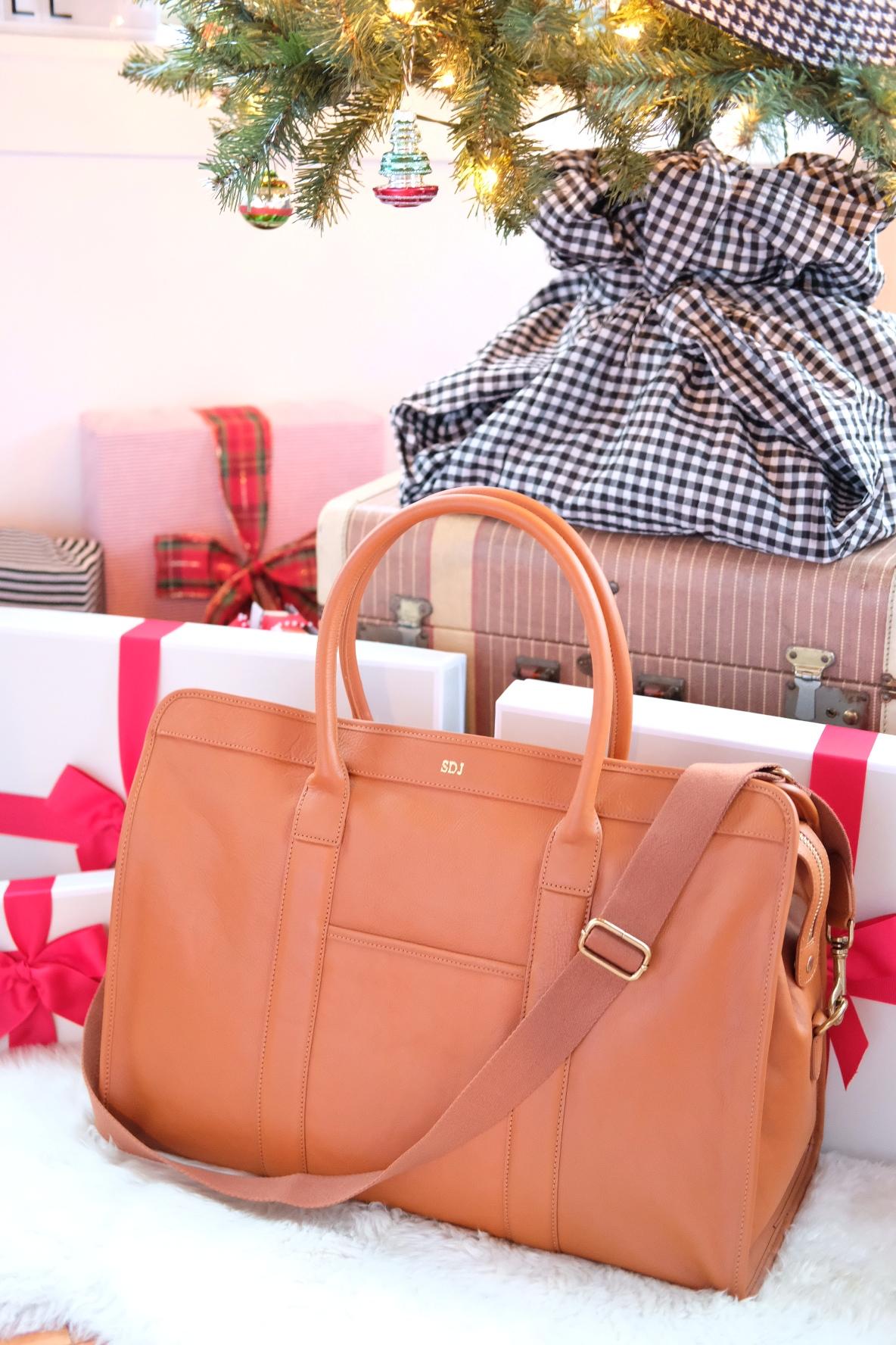 Mark & Graham Weekender Bag, Leather Weekend Bag for Men, Personalized Gifts for Him