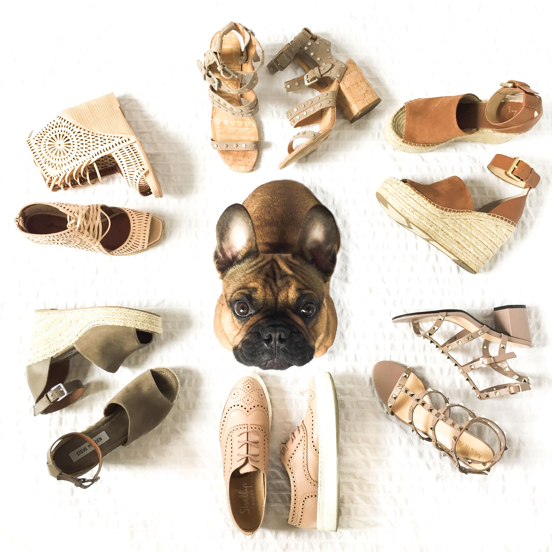Affordable summer sandals under $150.  Flattering block heel sandals, wedge sandals, and flat sandals.