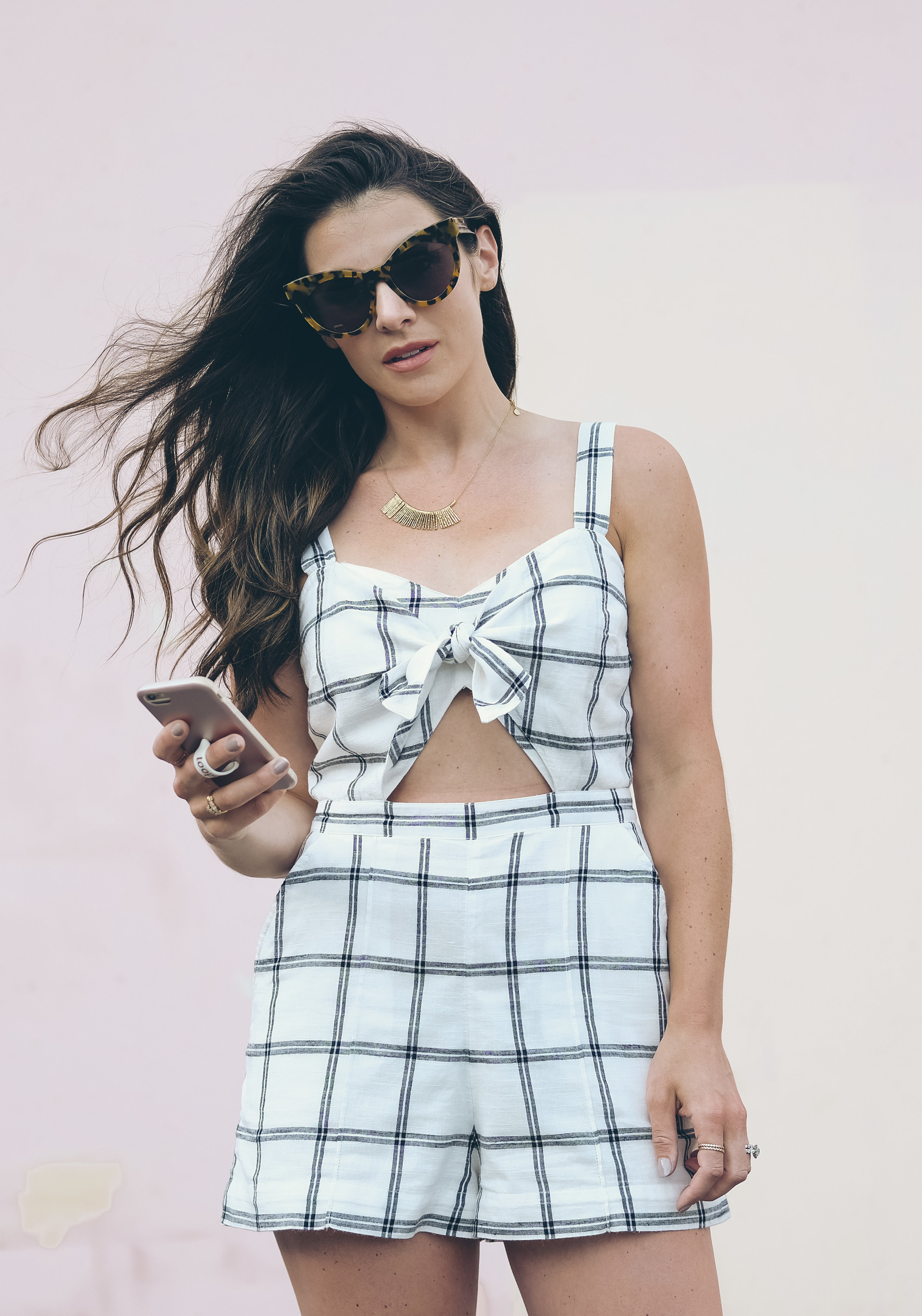 Abercrombie and Fitch Knot Front Romper, cute summer outfit.