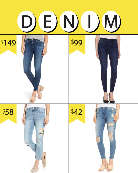 Nordstrom Anniversary Sale, 2017 Women's Denim.