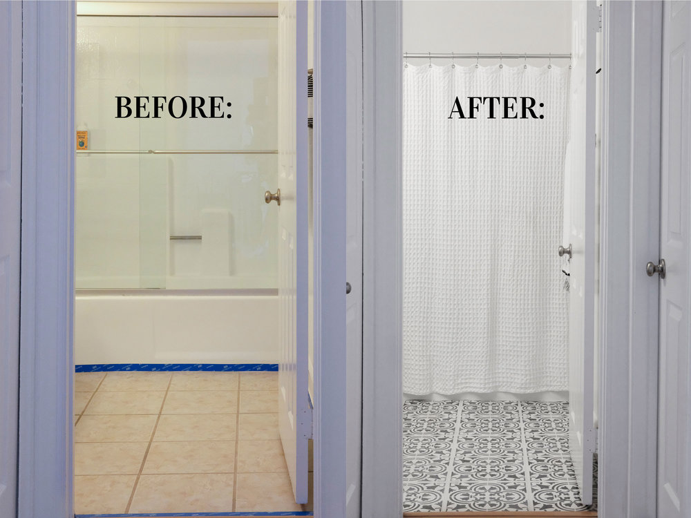 Moroccan Inspired Painted Tile, How To Paint Bathroom Tile