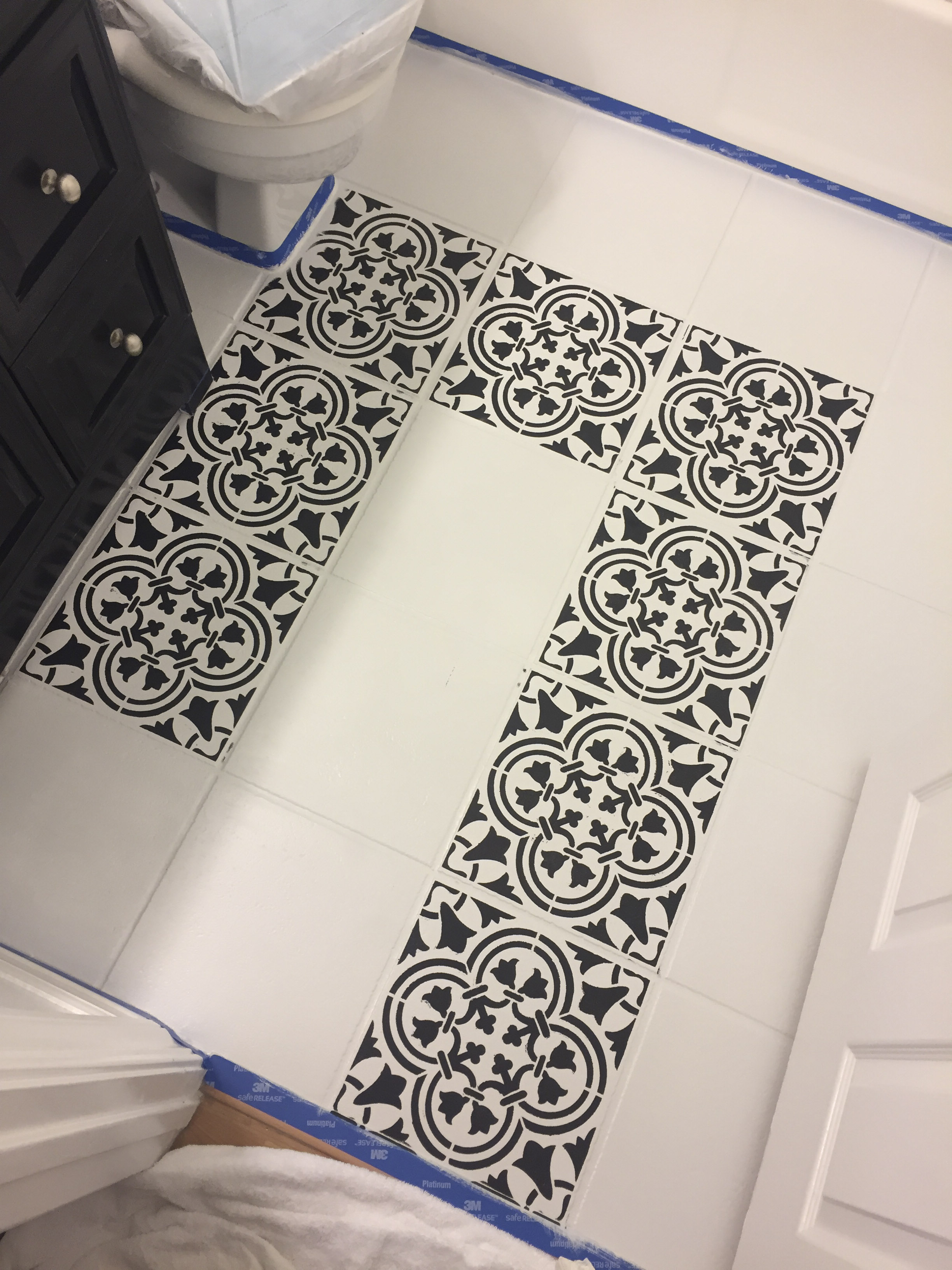 Diy For Less Moroccan Inspired Painted Tile Me And Mr