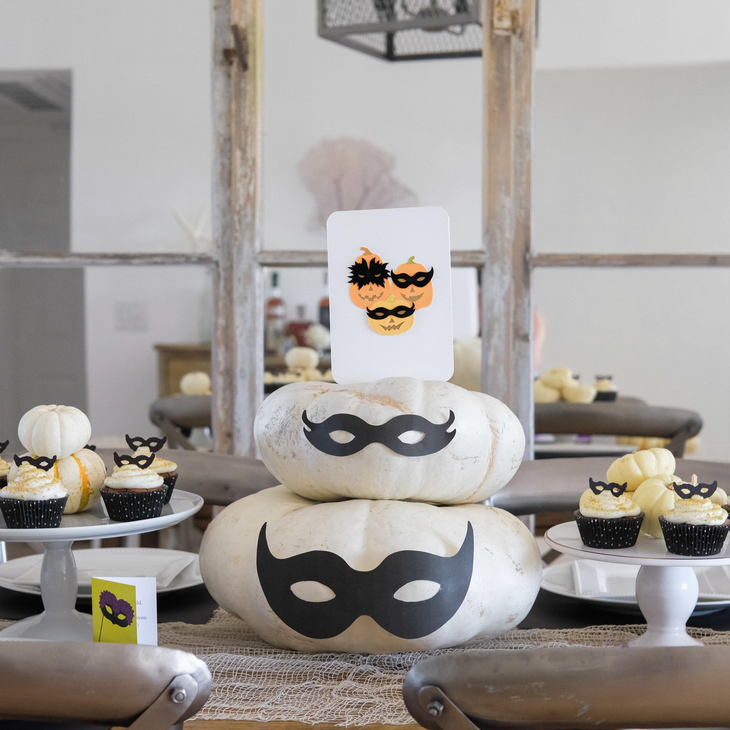Halloween masquerade party, Papyrus masquerade cards, Masquerade cupcakes