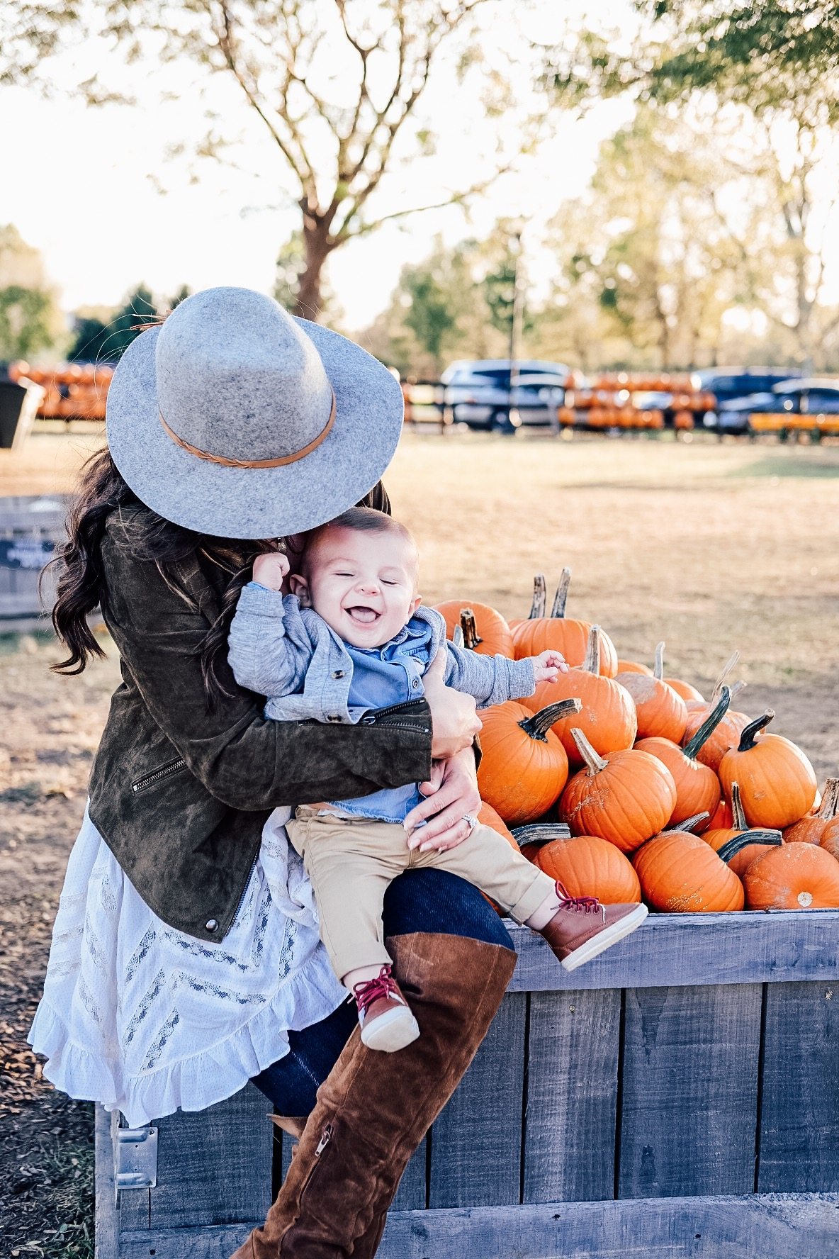 Fall fashion for mom and baby.