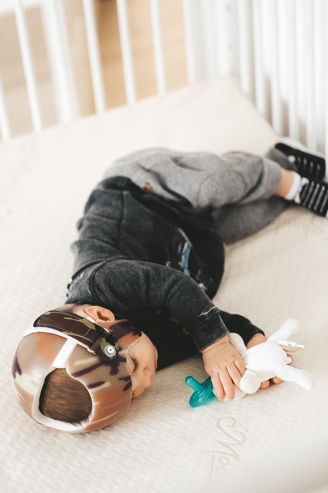 Newborn sleeping tips.  The best baby mattress.  Moonlight slumber baby bluebird crib mattress review.  How to get your newborn to sleep through the night.