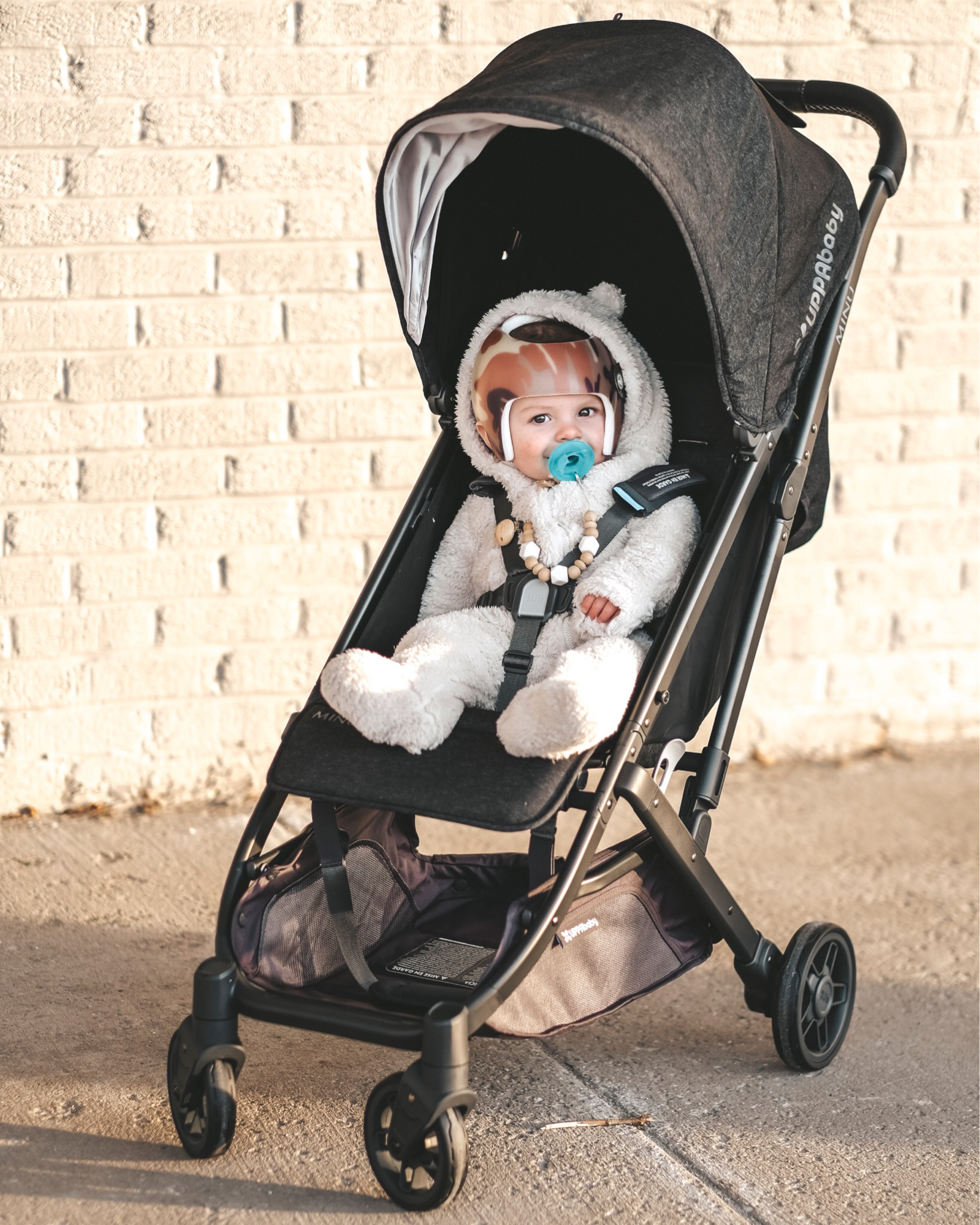 Jett Jones, 8 Months Old.  Uppababy MINU stroller.  Compact stroller review.