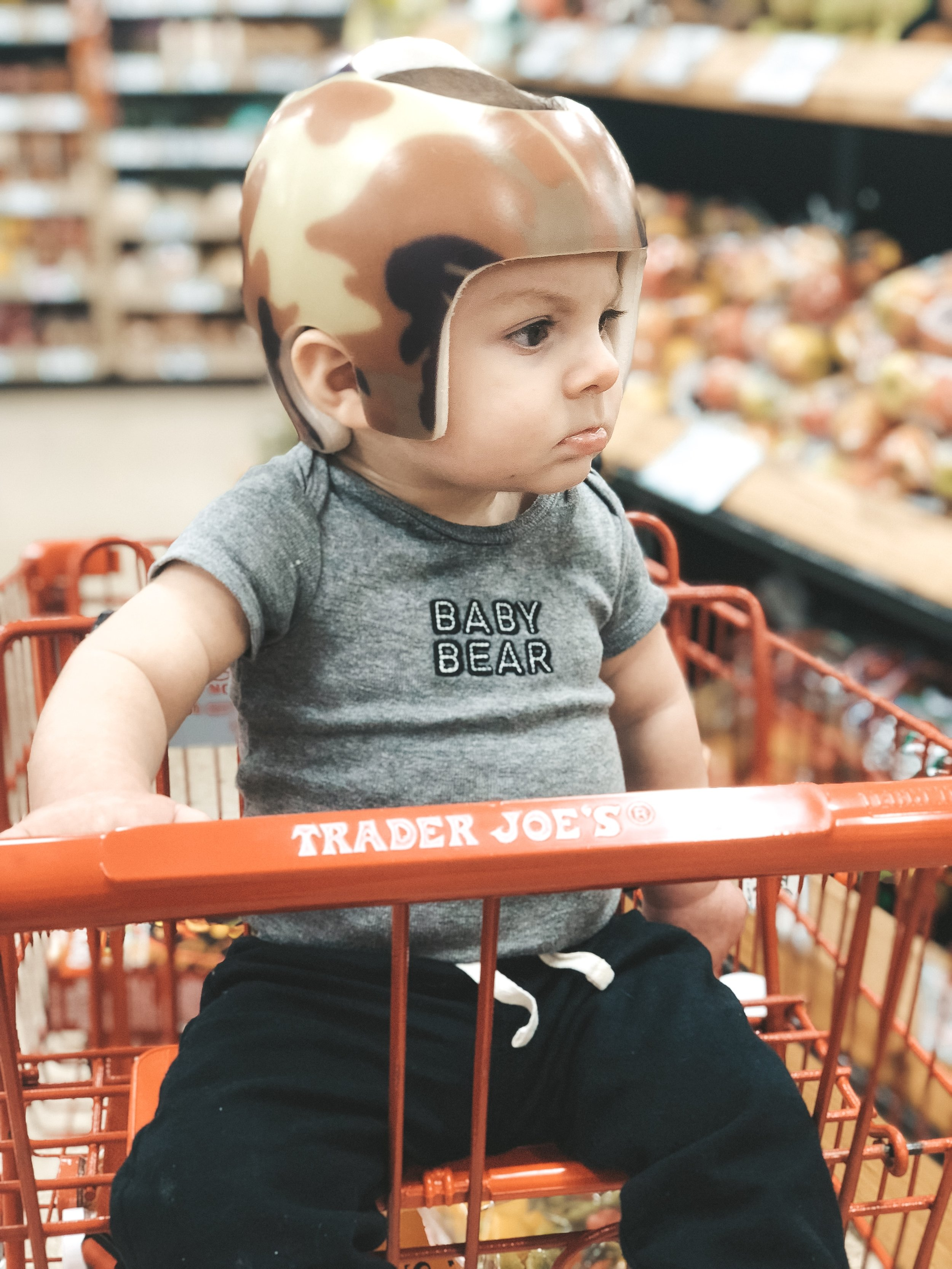 Jett Jones, 9 Month Update.  First trip to Trader Joes.