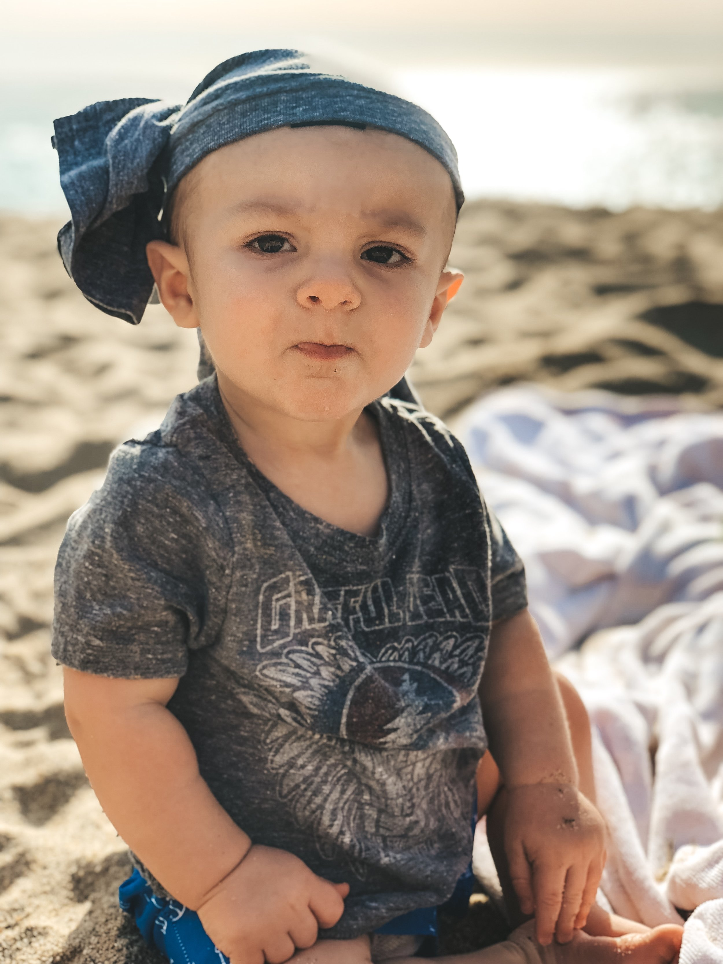 Jett Jones, 9 Month Update.  Laguna Beach baby.