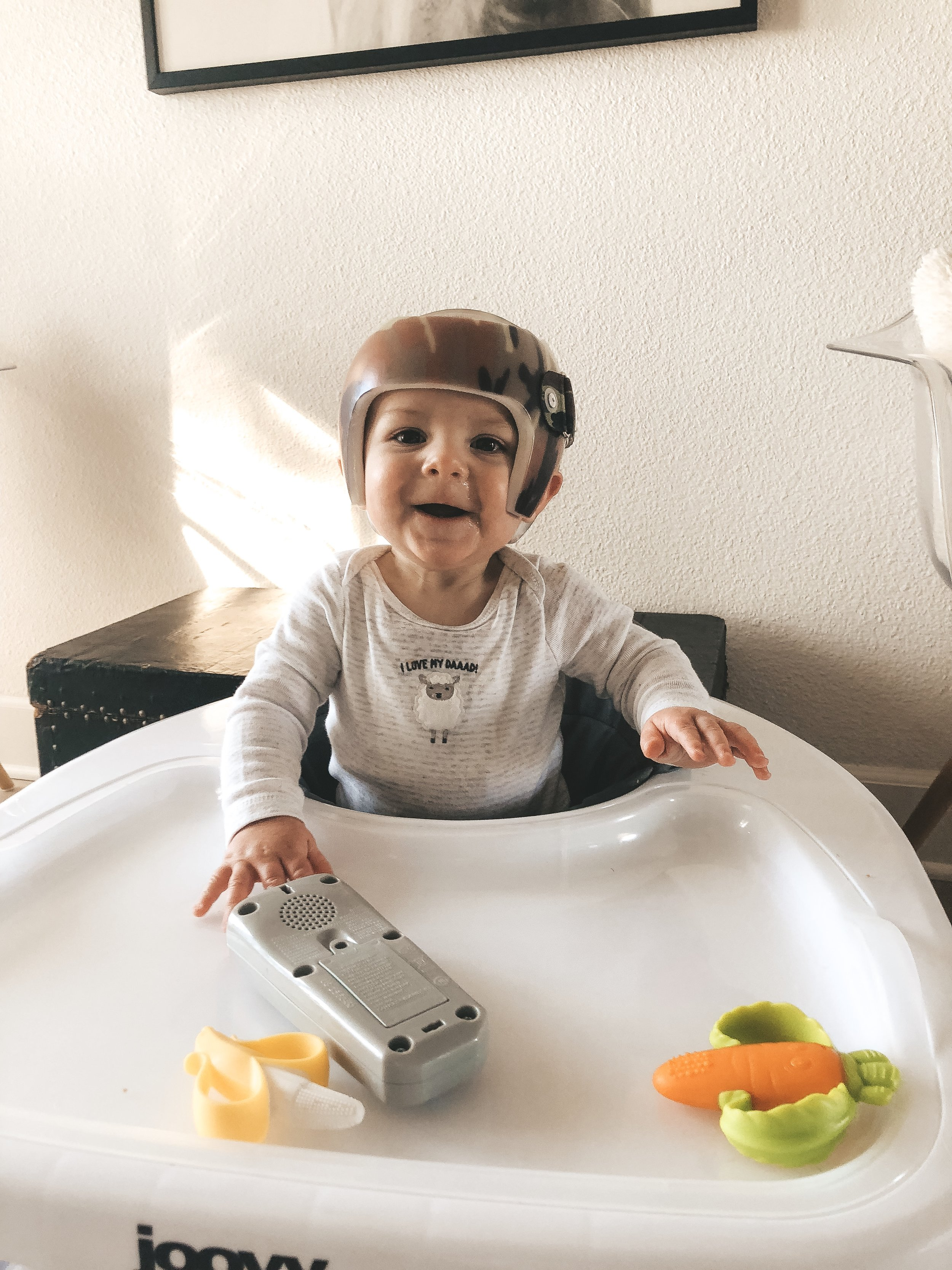 Jett Jones, 9 Month Update.  Joovy Spoon Walker.