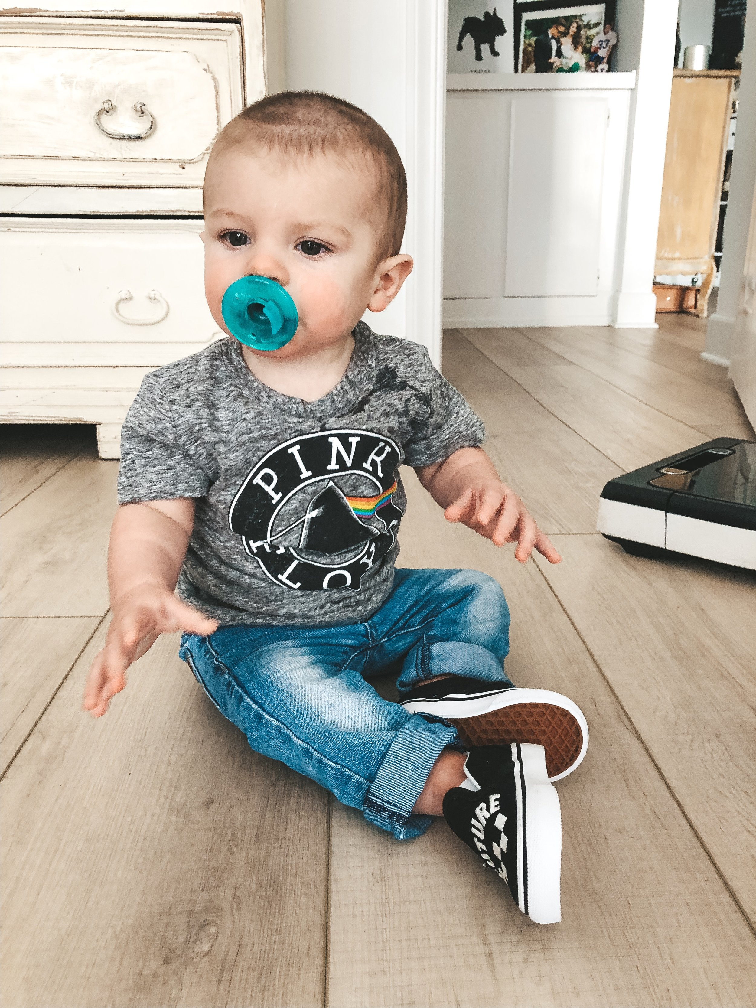 Jett Jones, 9 Month Update.  Baby band t-shirt.  Newborn band tees.