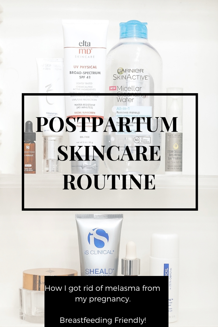 Postpartum Skincare Routine safe for breastfeeding.