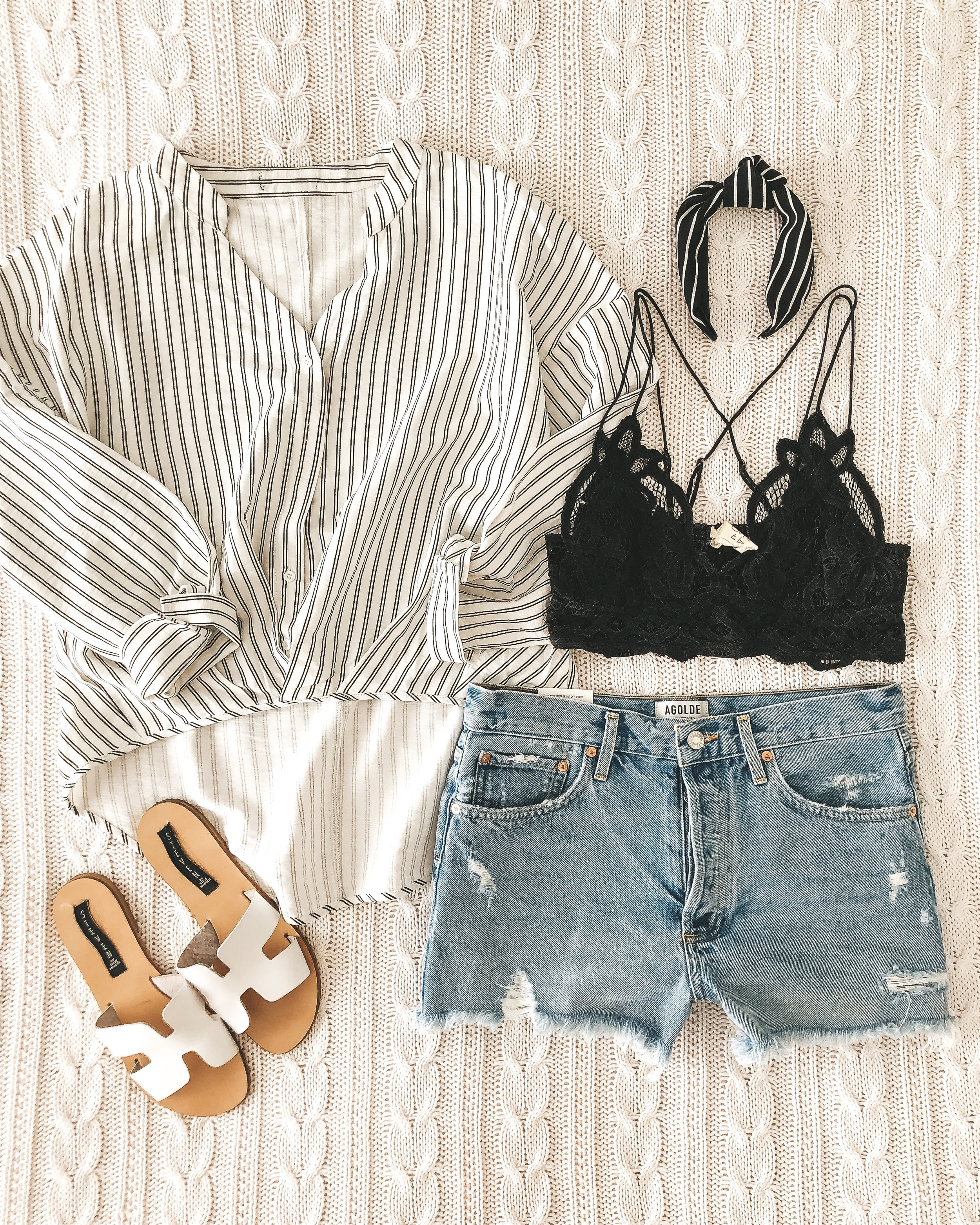 Affordable spring style from Amazon.  Amazon fashion finds.  Amazon prime fashion. Free People Adella Bralette.  Agolde parker jean shorts.