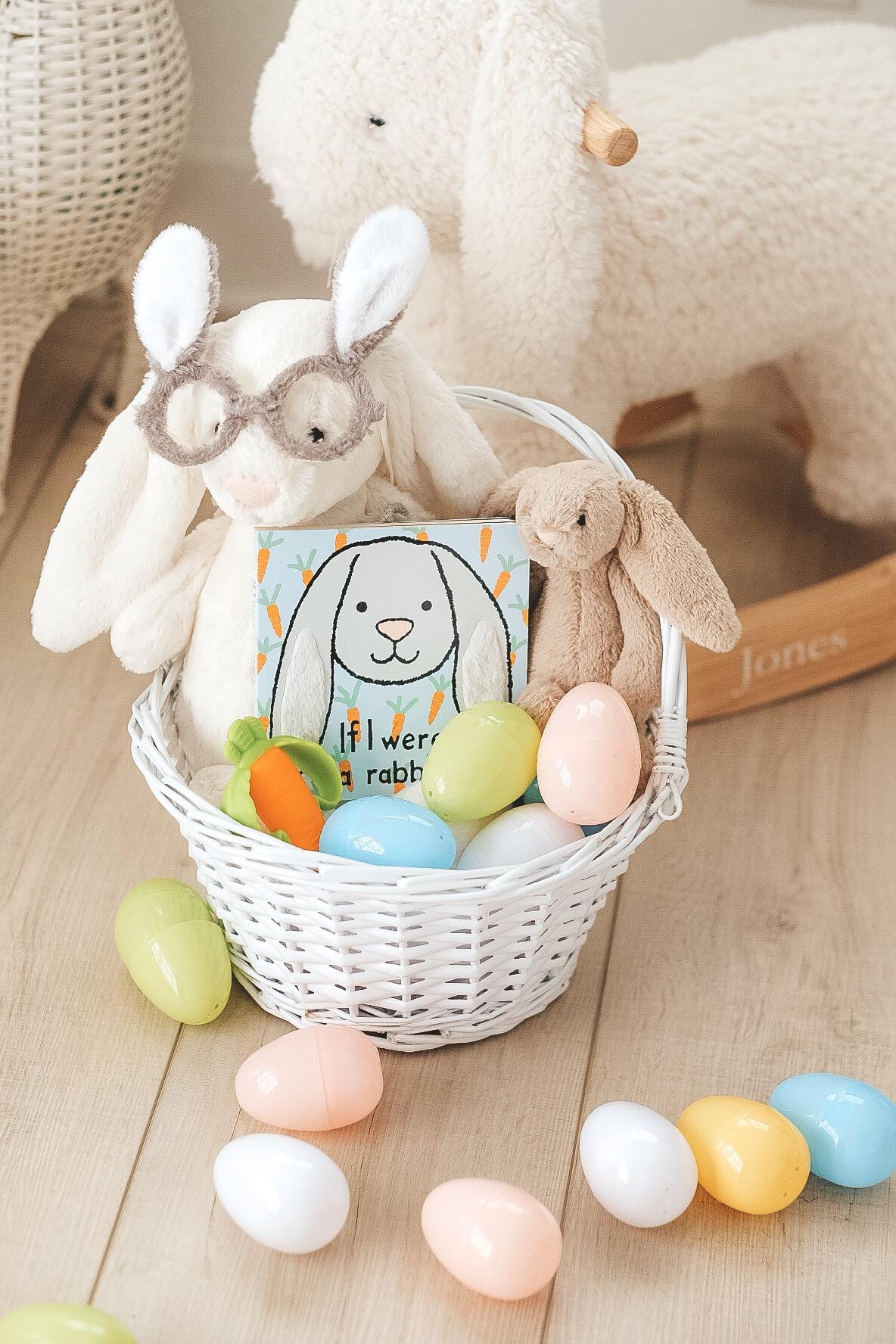 Easter basket ideas for children under 1.  Baby Easter basket ideas.