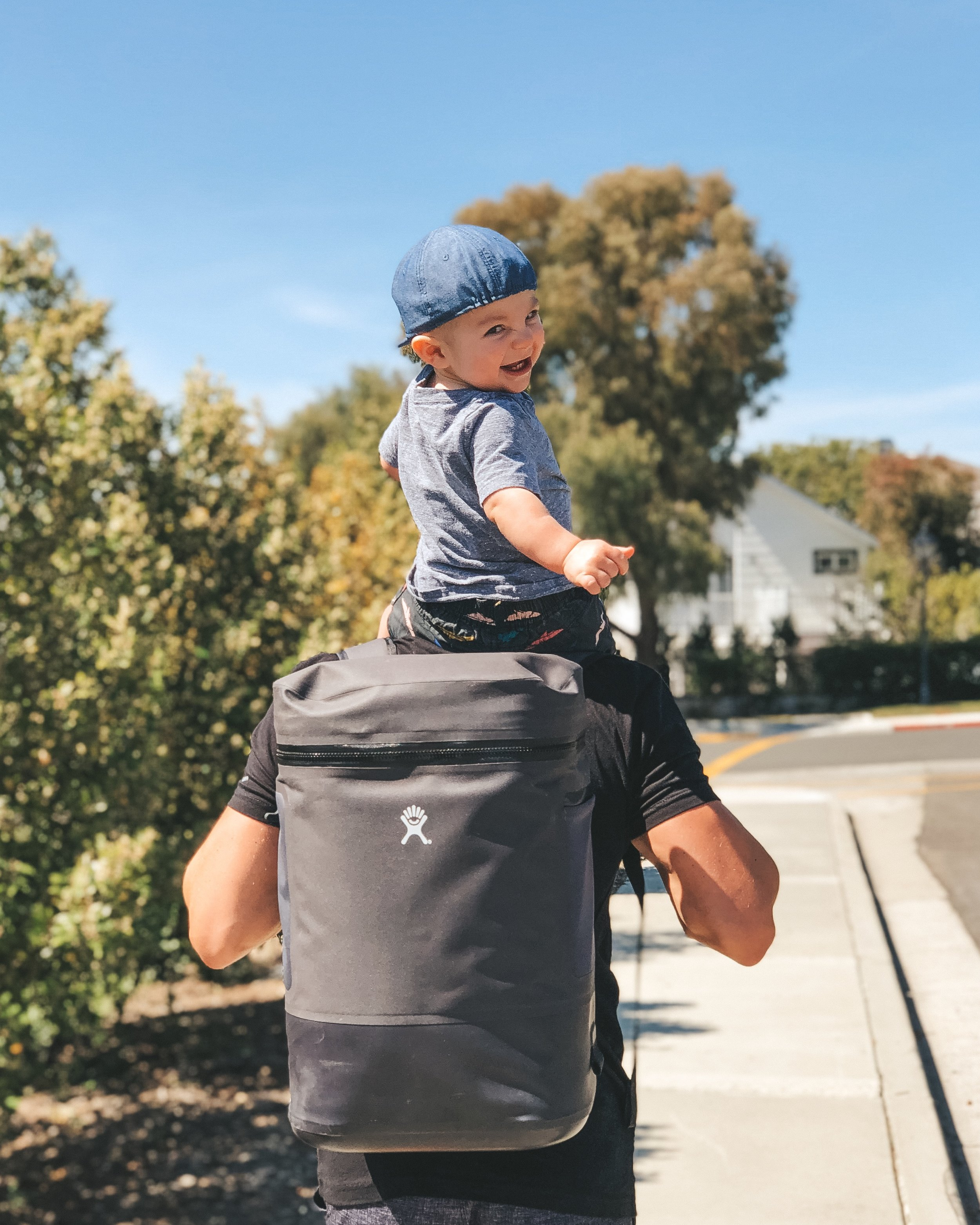 Jett Jones 11 Month Milestones.  Cute baby boy clothes.  Hydroflask cooler backpack.