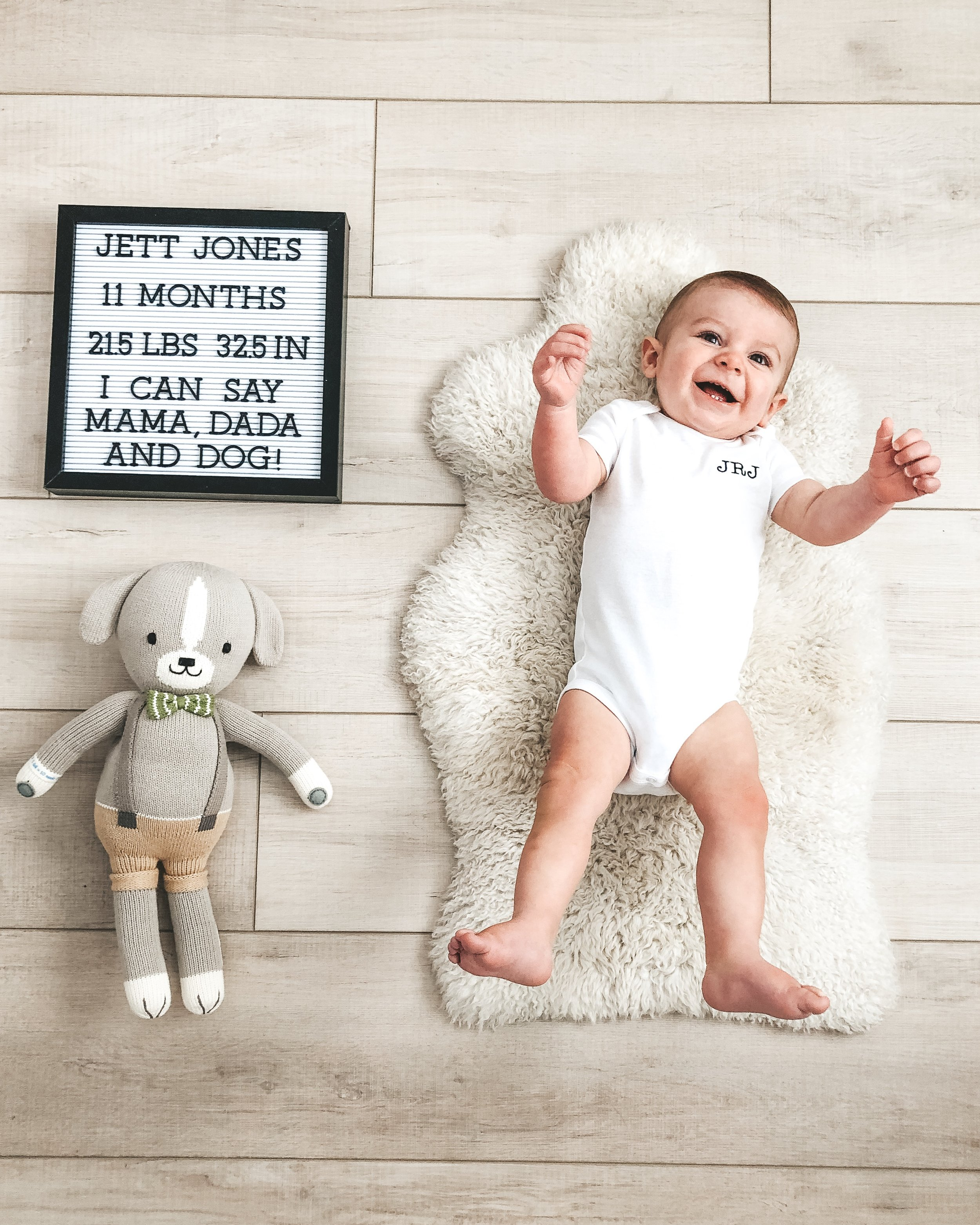 Jett Jones 11 month milestones.