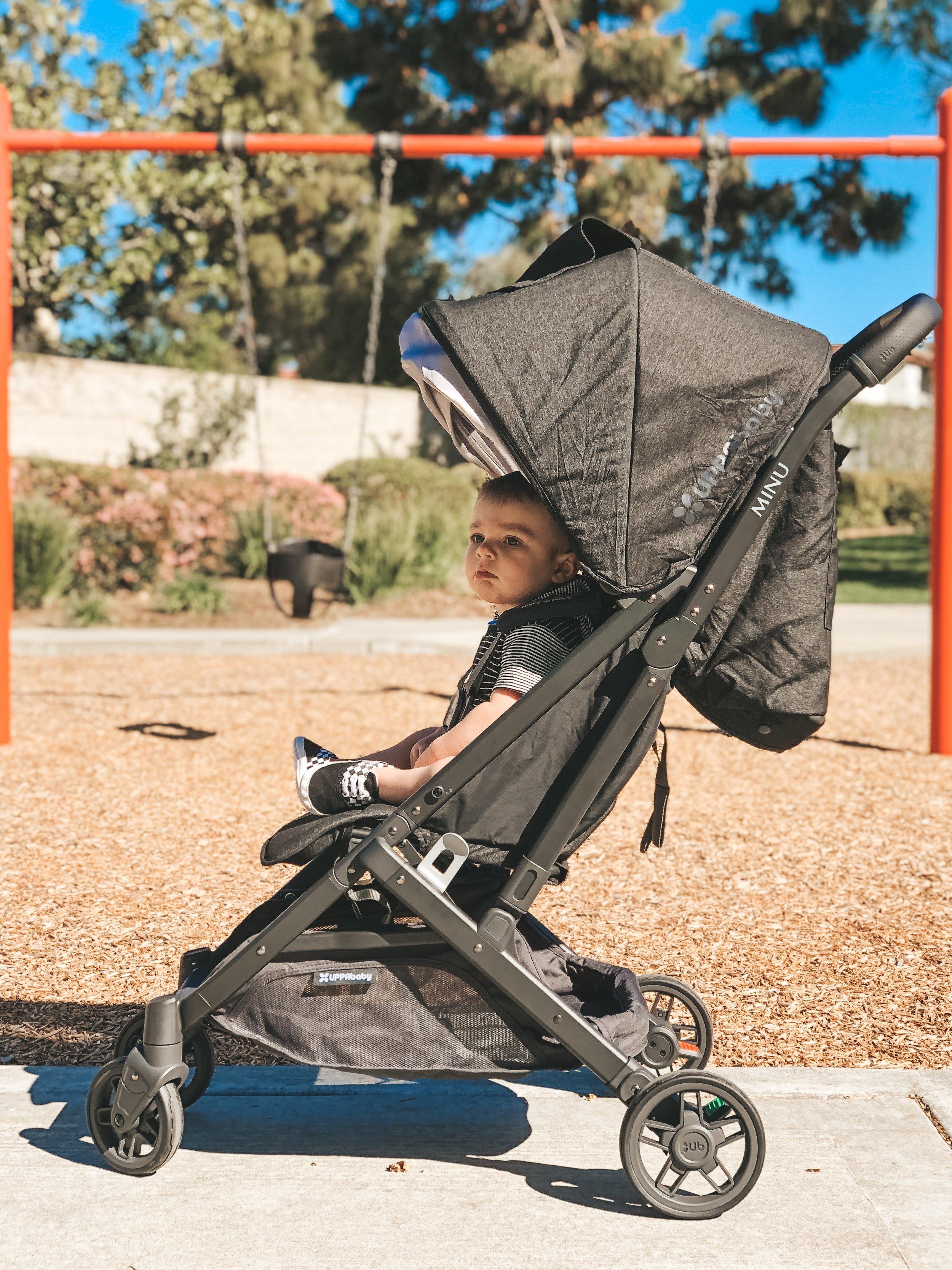 Jett Jones 12 Month Update.  Uppababy MINU stroller.