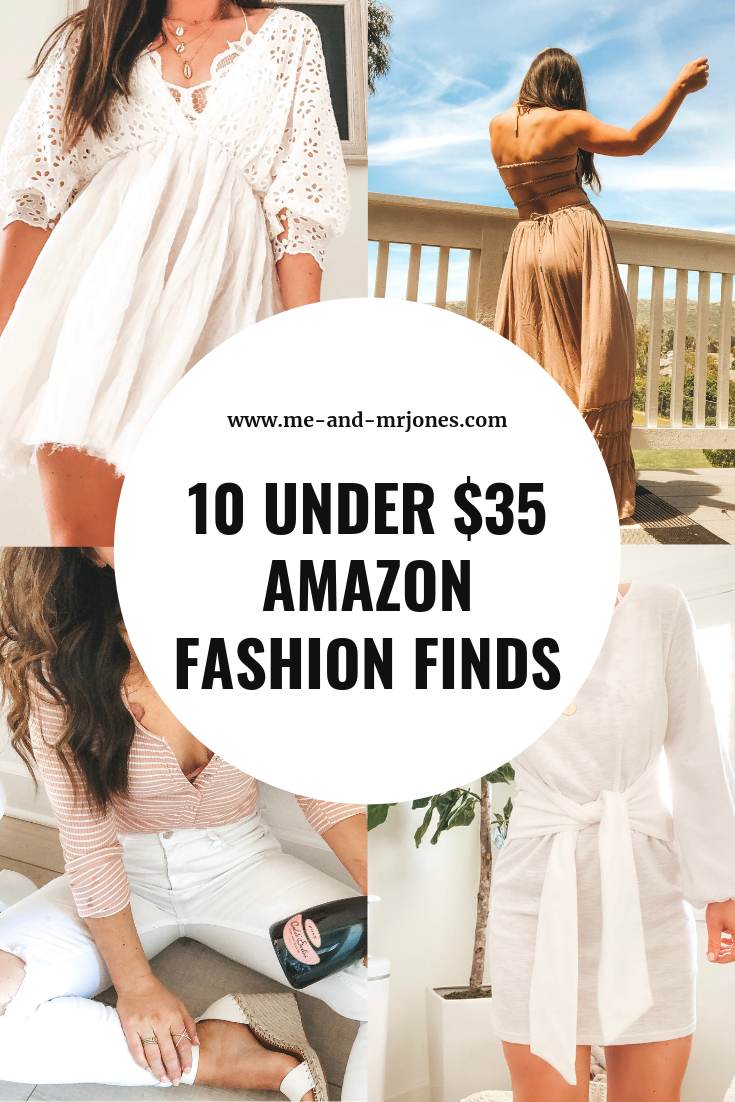 10 under 35 dollar Amazon women's fashion finds for summer.