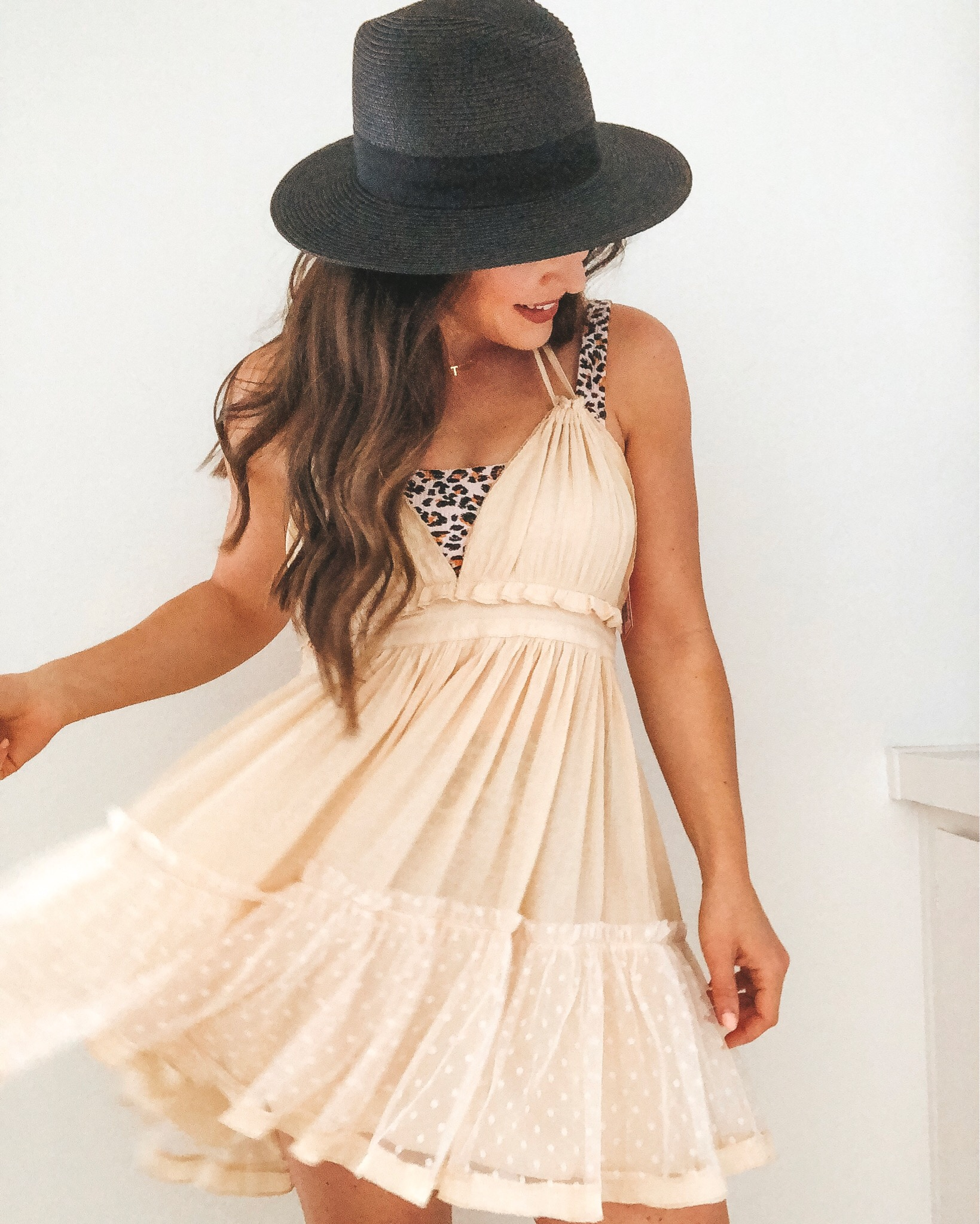 Amazon fashion finds for summer.  10 under $35 amazon women's clothing pieces.  Ivory Free people inspired dress or beach coverup.