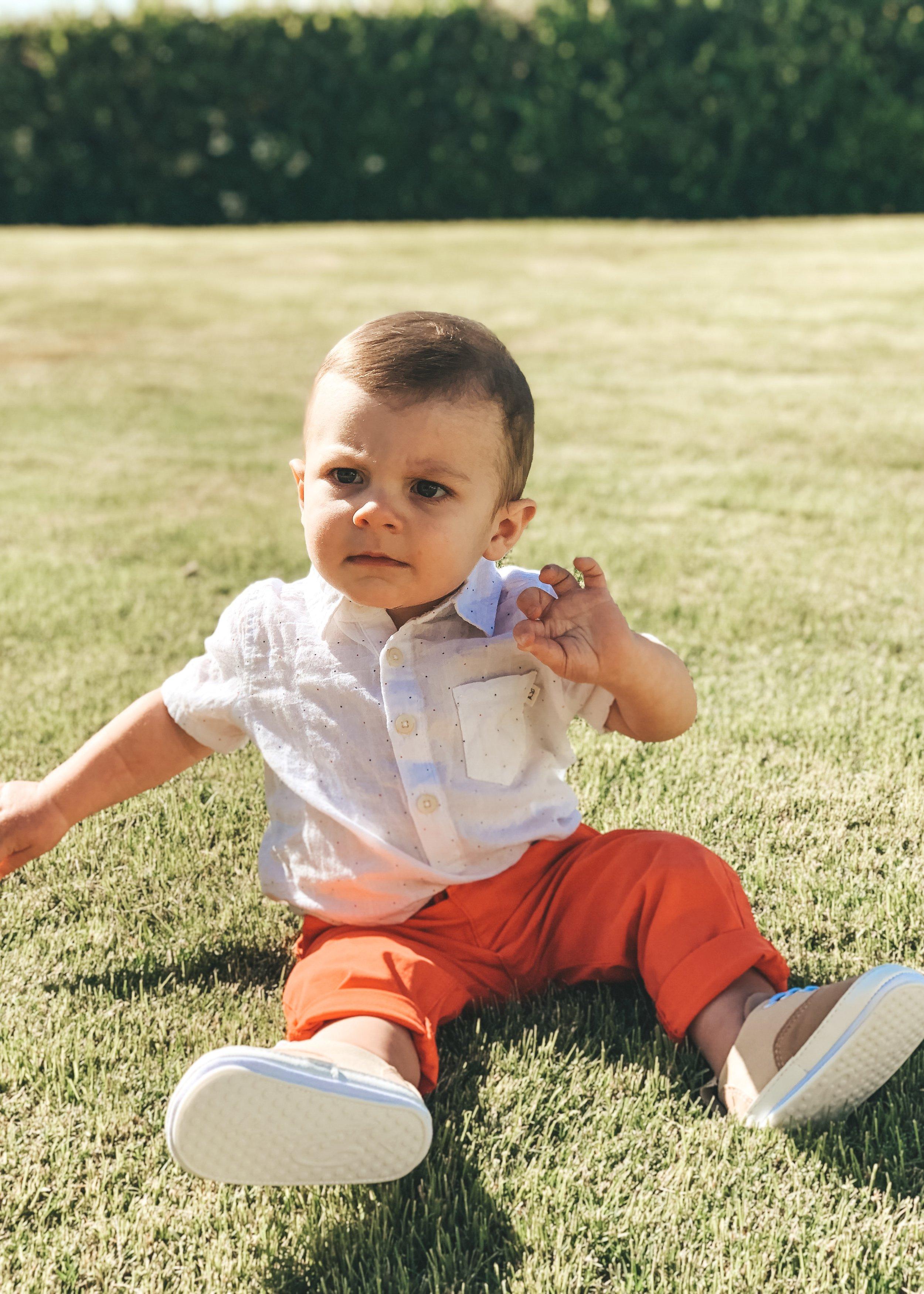 Jett Jones 12 Month update. Cute boy outfits.  Baby boy style.