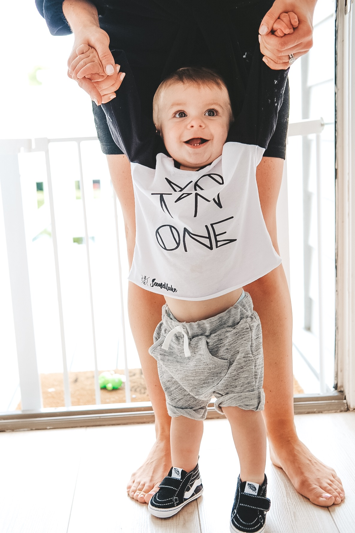 Yo I'm One shirt for baby boys first birthday party.   Black and white birthday party.  Modern surfer themed birthday.