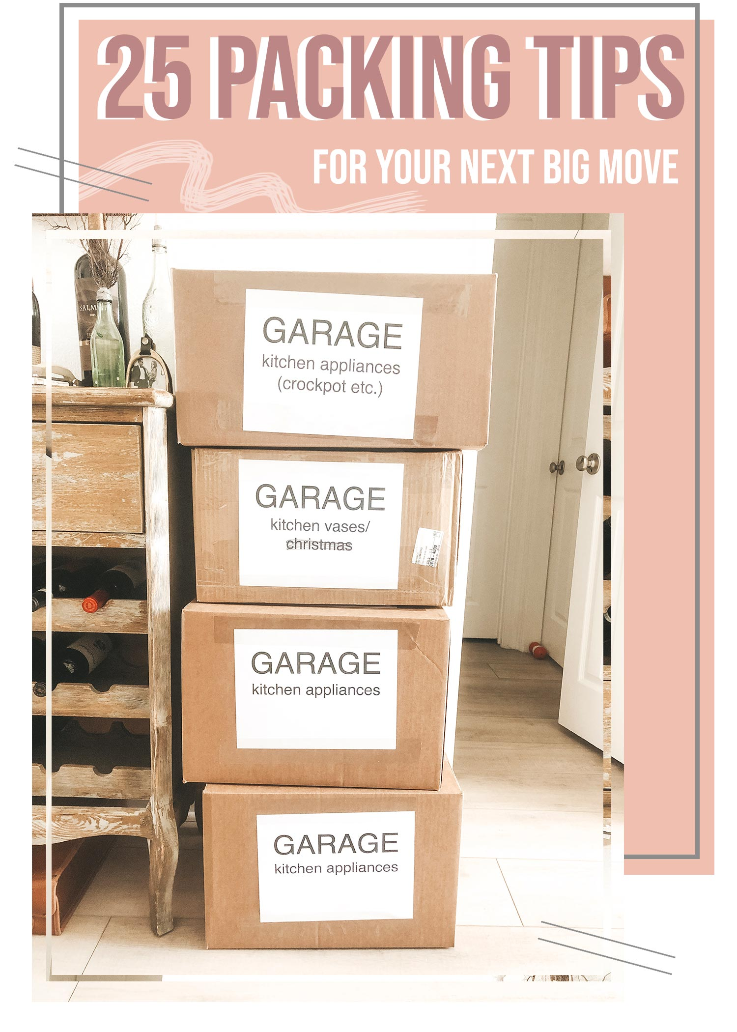 Packing tips for a big move.  Moving with a toddler or baby.  Packing tips and tricks for pods, moving cross-country, etc.