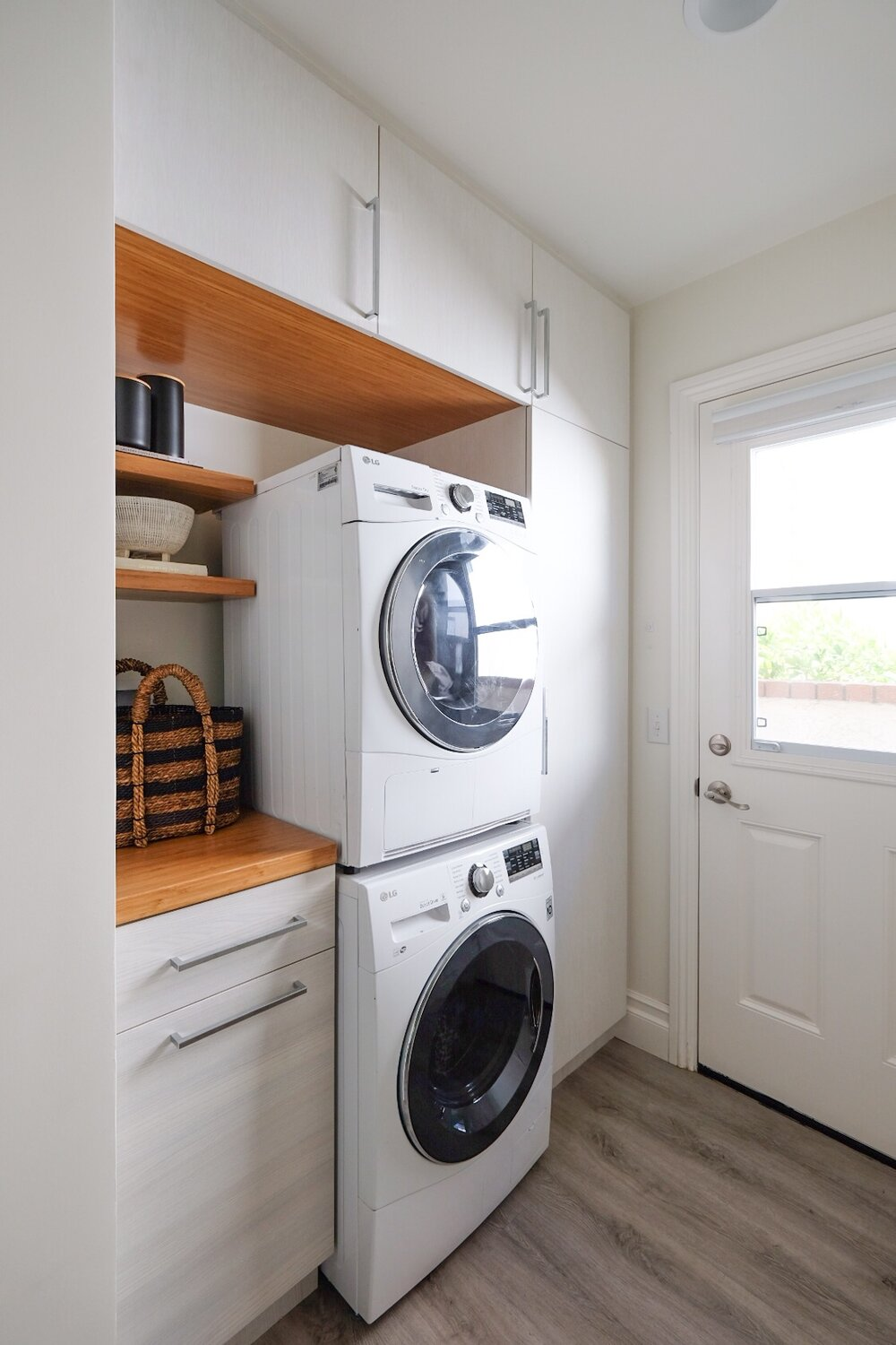 OUR SMALL SPACE LAUNDRY ROOM // — Me and Mr. Jones