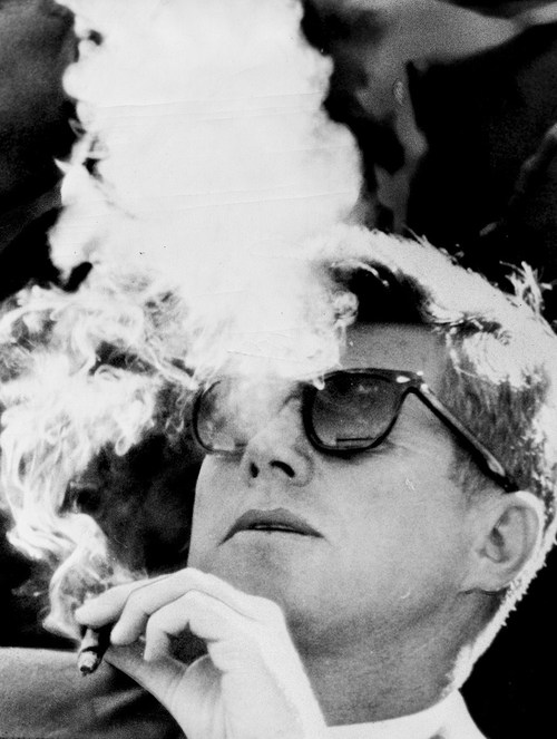 JFK smoking rayban sunglasses stop start do