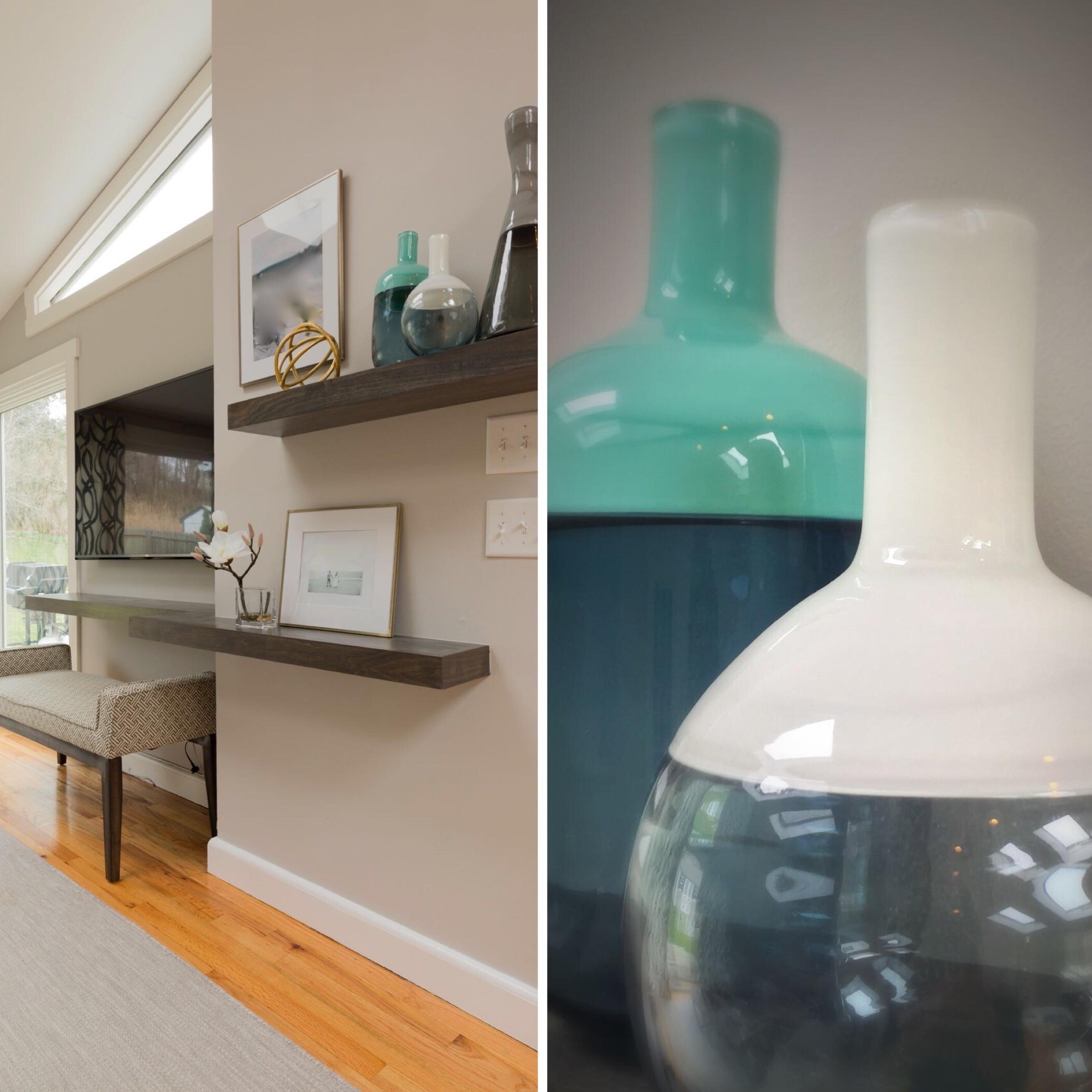 Southport Coastal Chic shelves vases