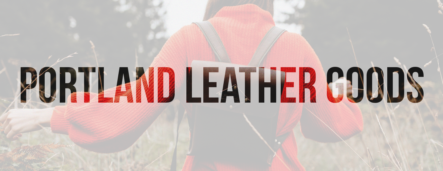 Portland Leather Goods Banner Design