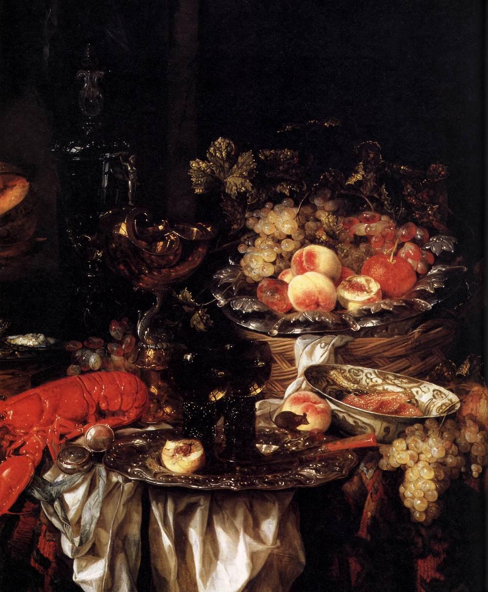 Abraham van Beyeren | Banquet Hall Still Life with a Mouse