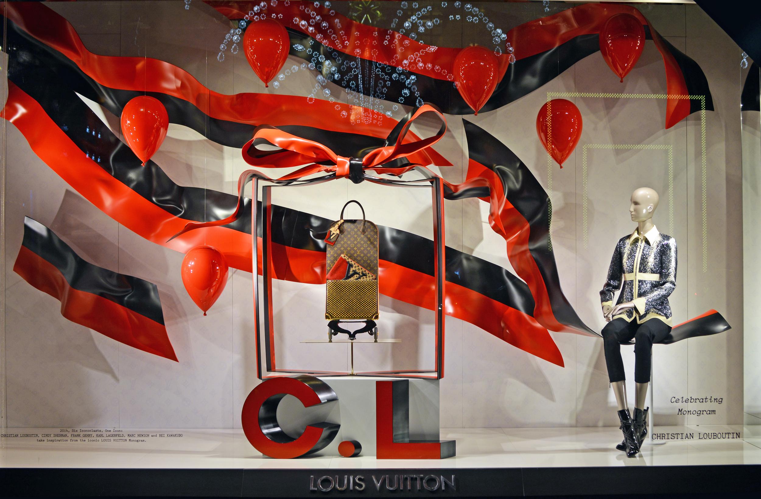 Window Display for Christian Louboutin - Louis Vuitton