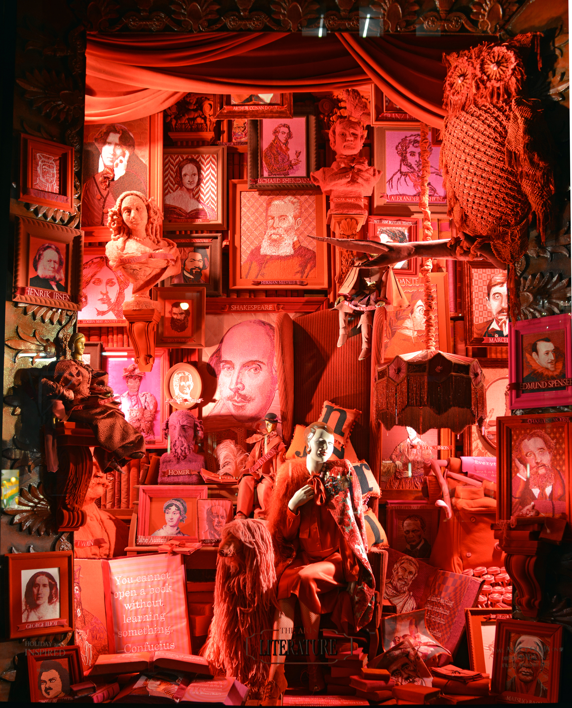 Bergdorf Goodman Window Display - Literature | Lauren Caron © 2014